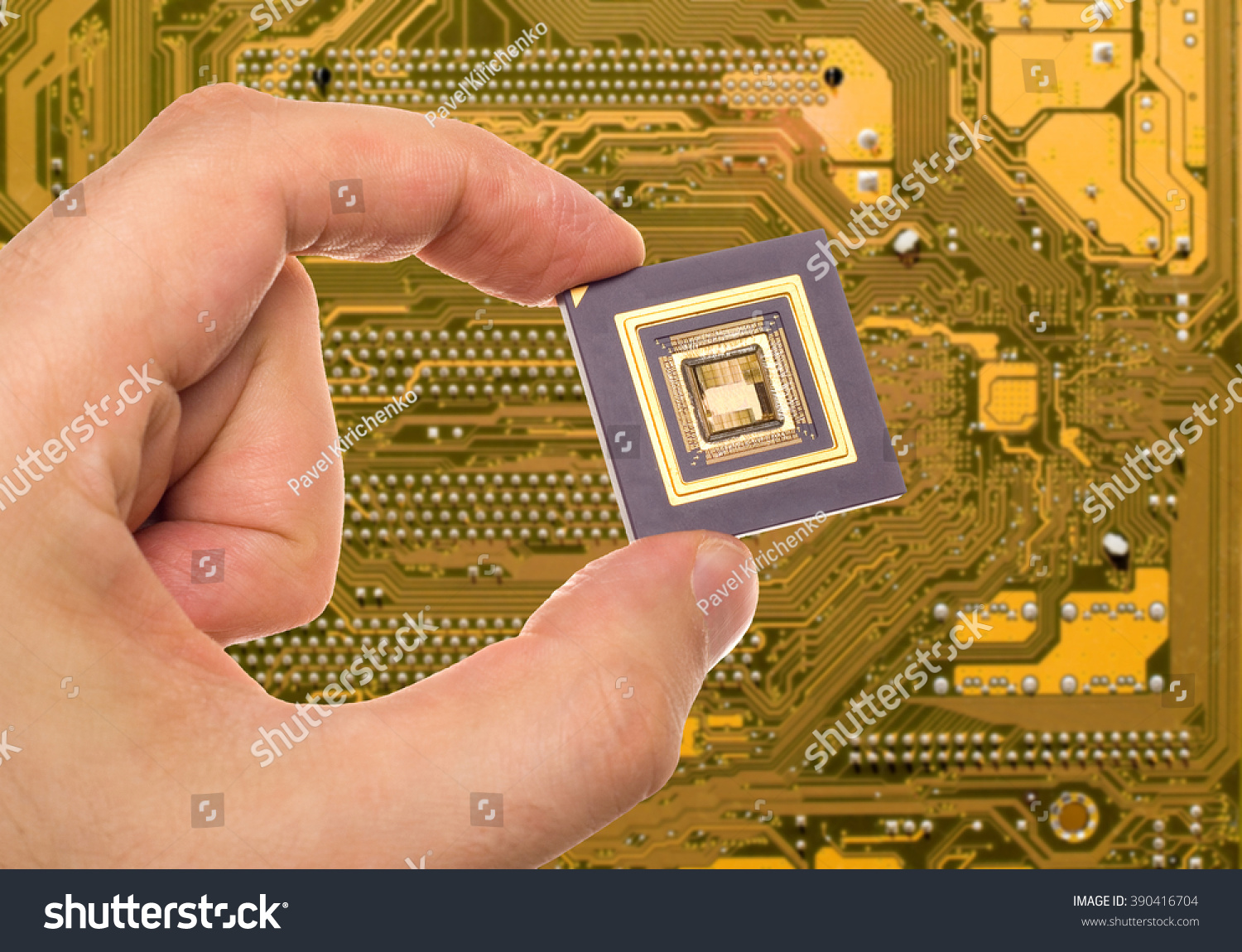 Microprocessor Hand Over Printed Circuit Board Stock Photo Edit Now Photos Images Pictures Shutterstock In
