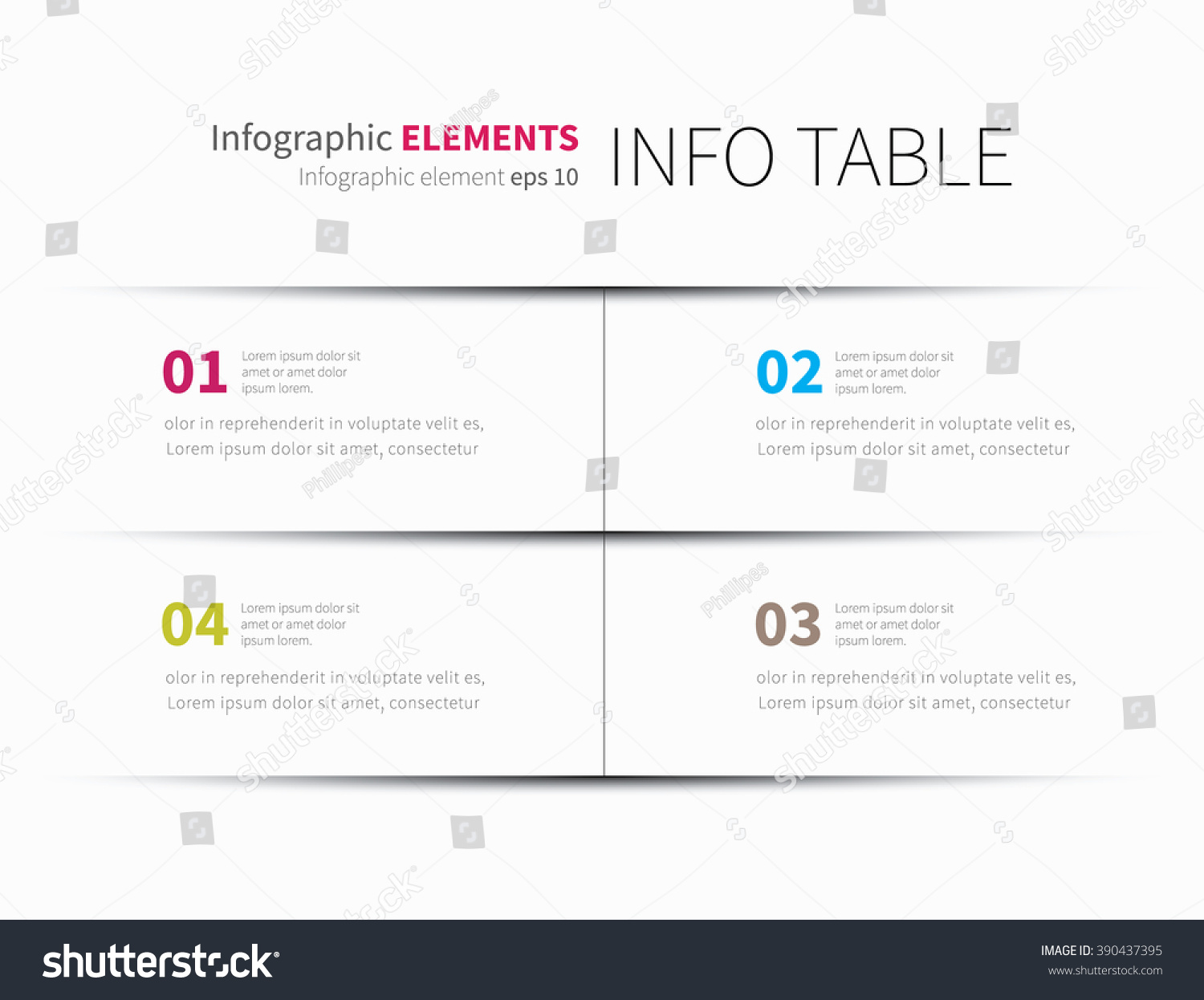 Modern Infographics Template Options Steps Rows Stock Vector ...