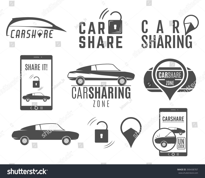 Car share logo designs set car stock vector 390438787 shutterstock car share logo designs set car sharing vector concepts collective usage of cars via biocorpaavc