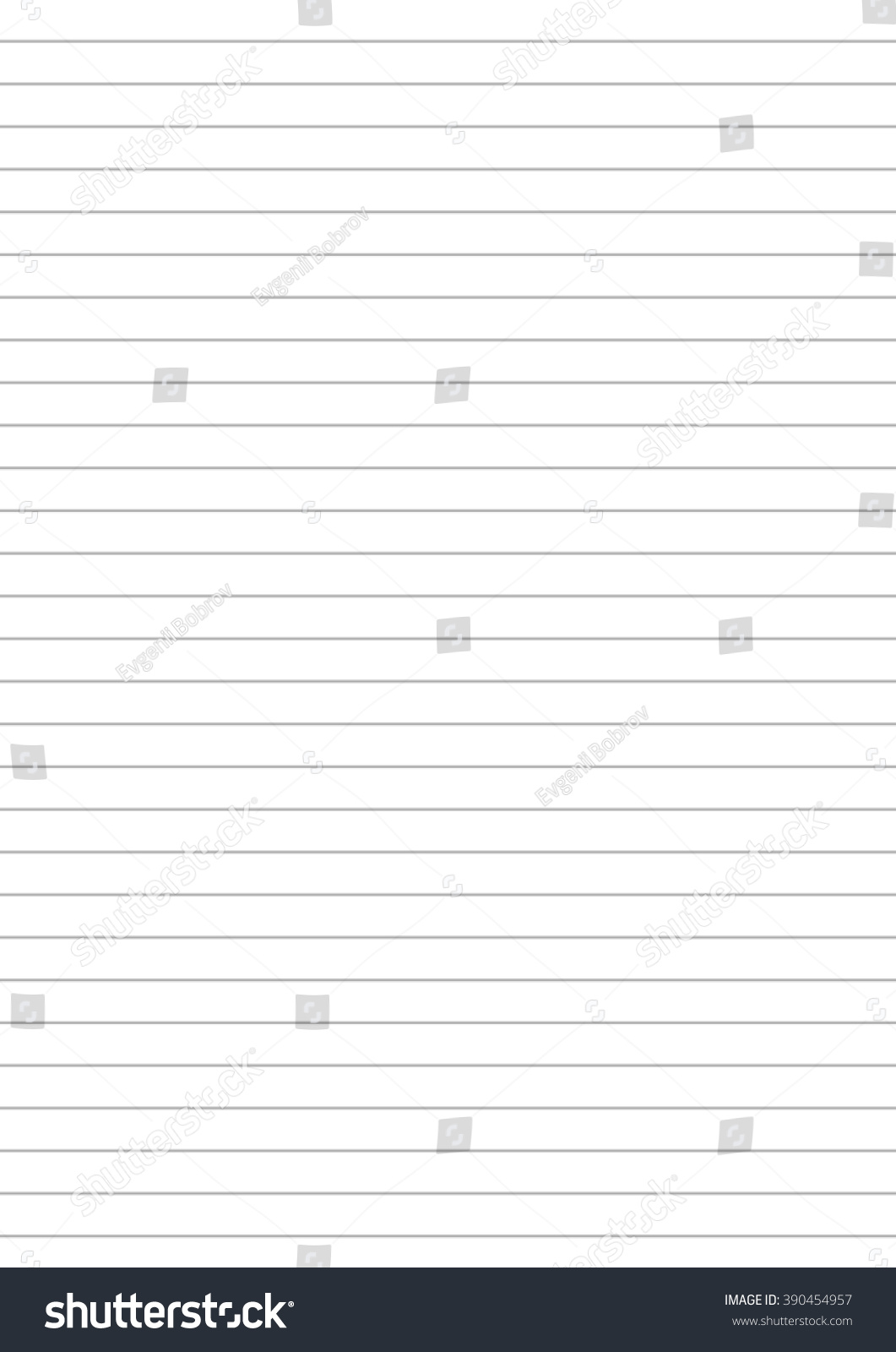 Notebook Paper One Centimeter Gray Line Illustration – Notebook Paper Template