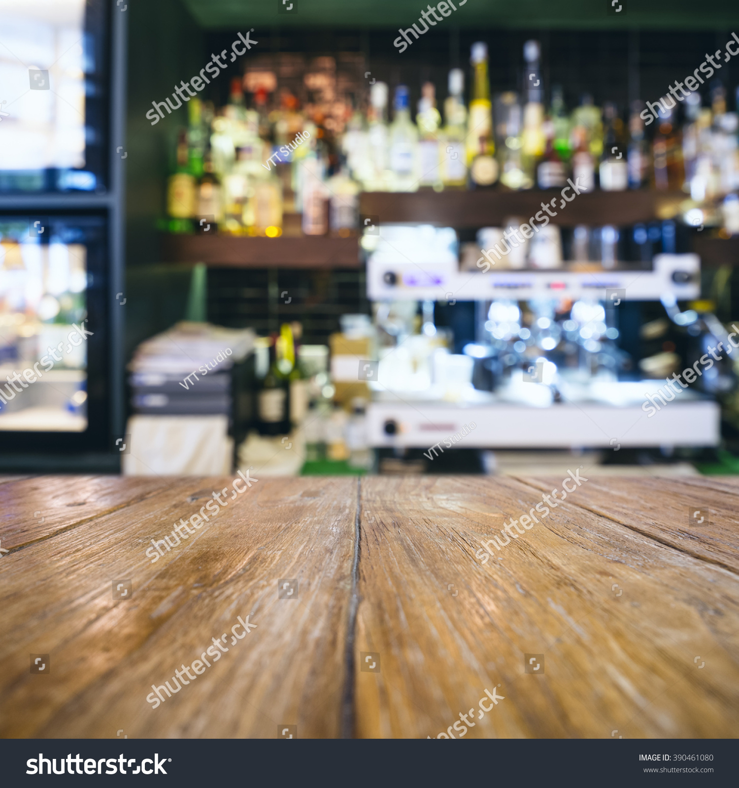 table top blurred bar restaurant cafe stock photo 390461080