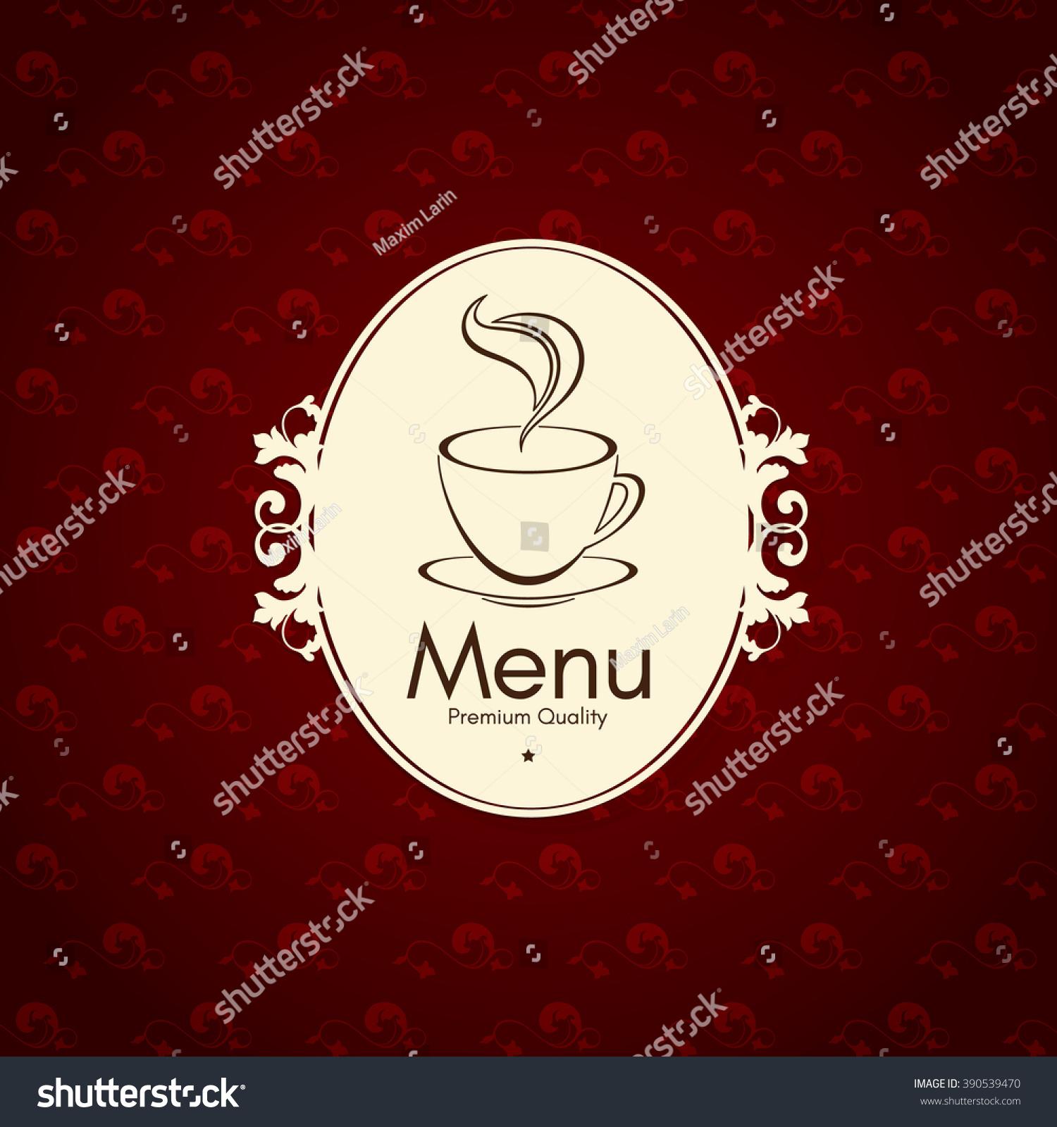 restaurant coffee house menu design vector stock vector 390539470