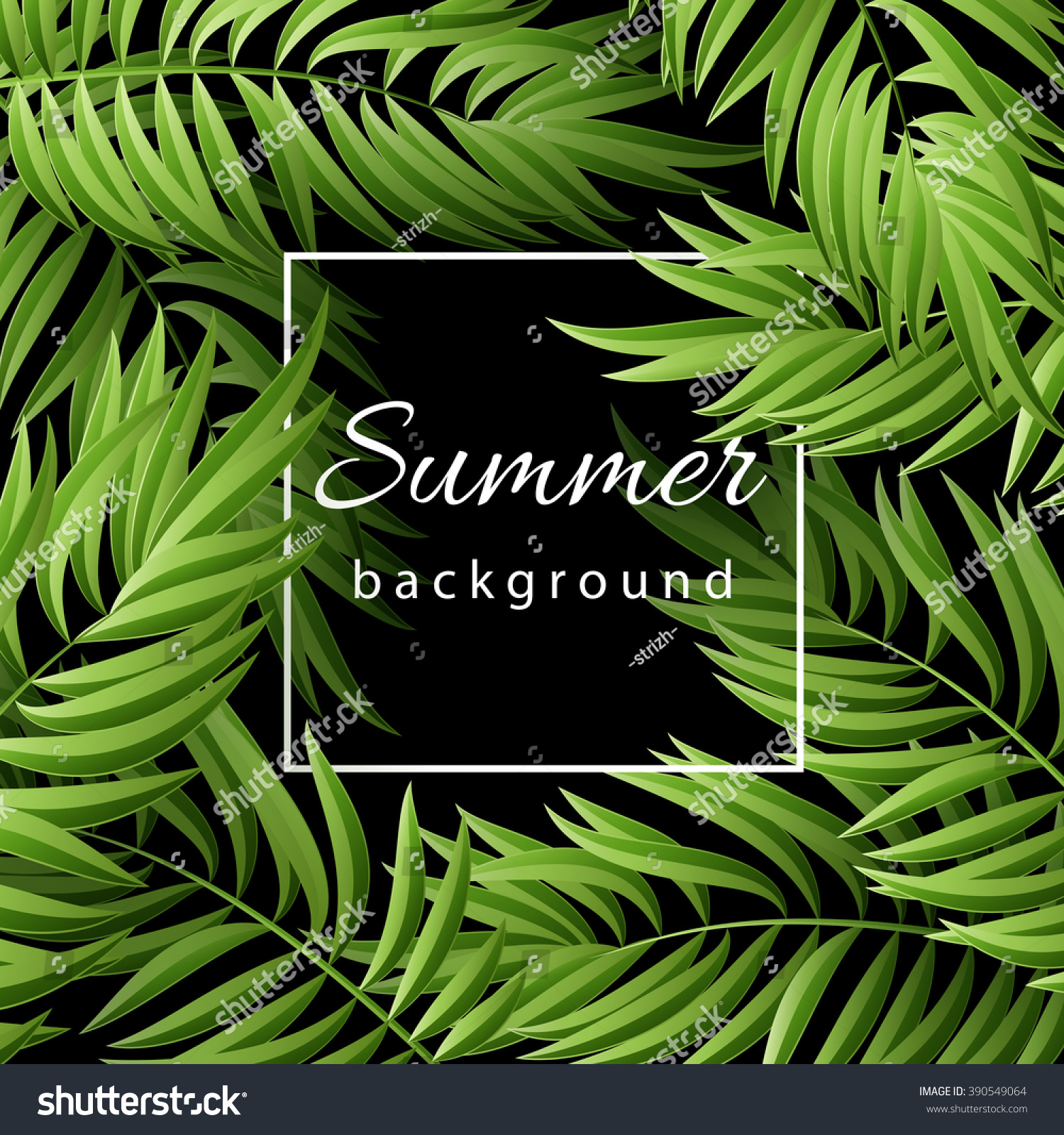 green palm leaves summer - photo #5