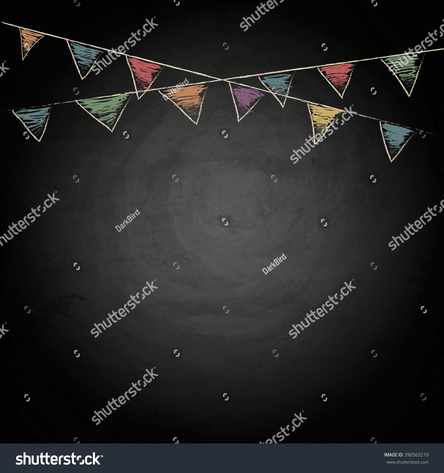 royalty free chalkboard background with drawing 390565219 stock