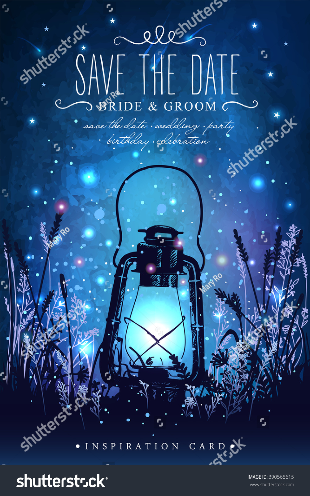 Amazing Vintage Lantern On Grass With Magical Lights Of ...