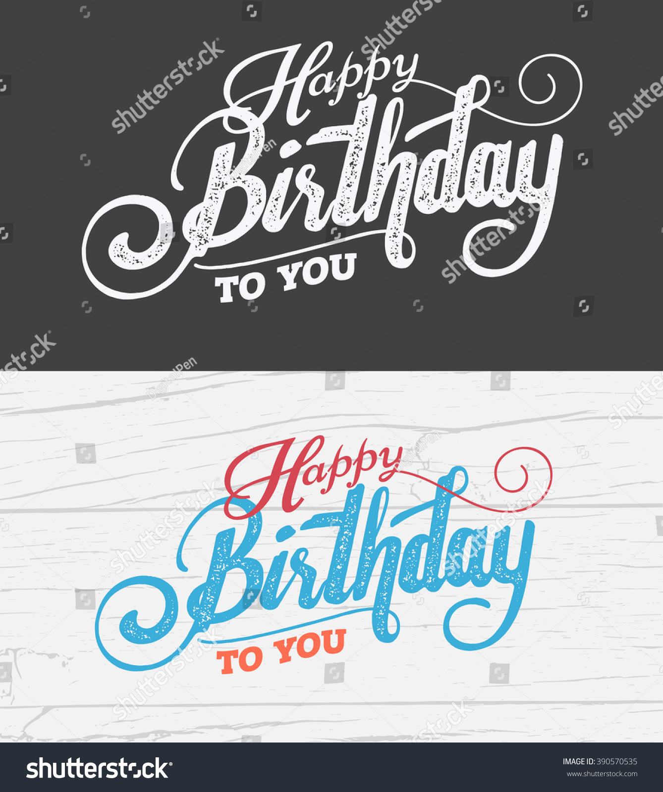 Letter Happy Birthday Card Fonts Grunge Vector 390570535 – Birthday Card Font