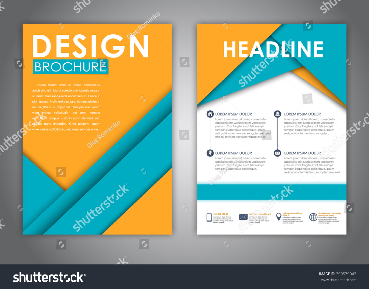 template flyer brochure report print advertising stock vector template flyer brochure report and print advertising material design sheets of yellow