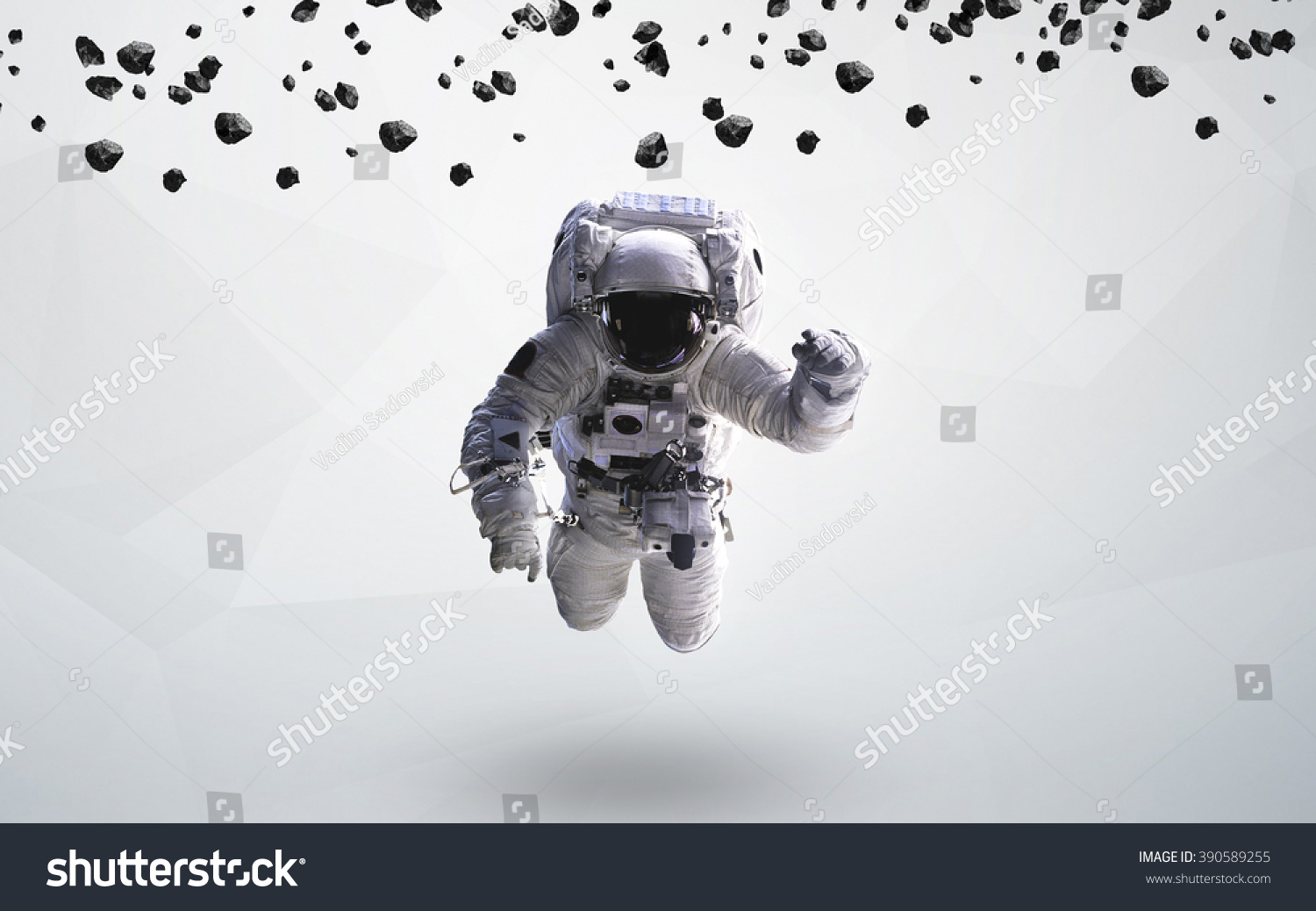 Astronaut outer space modern art elements stock photo for Outer space elements