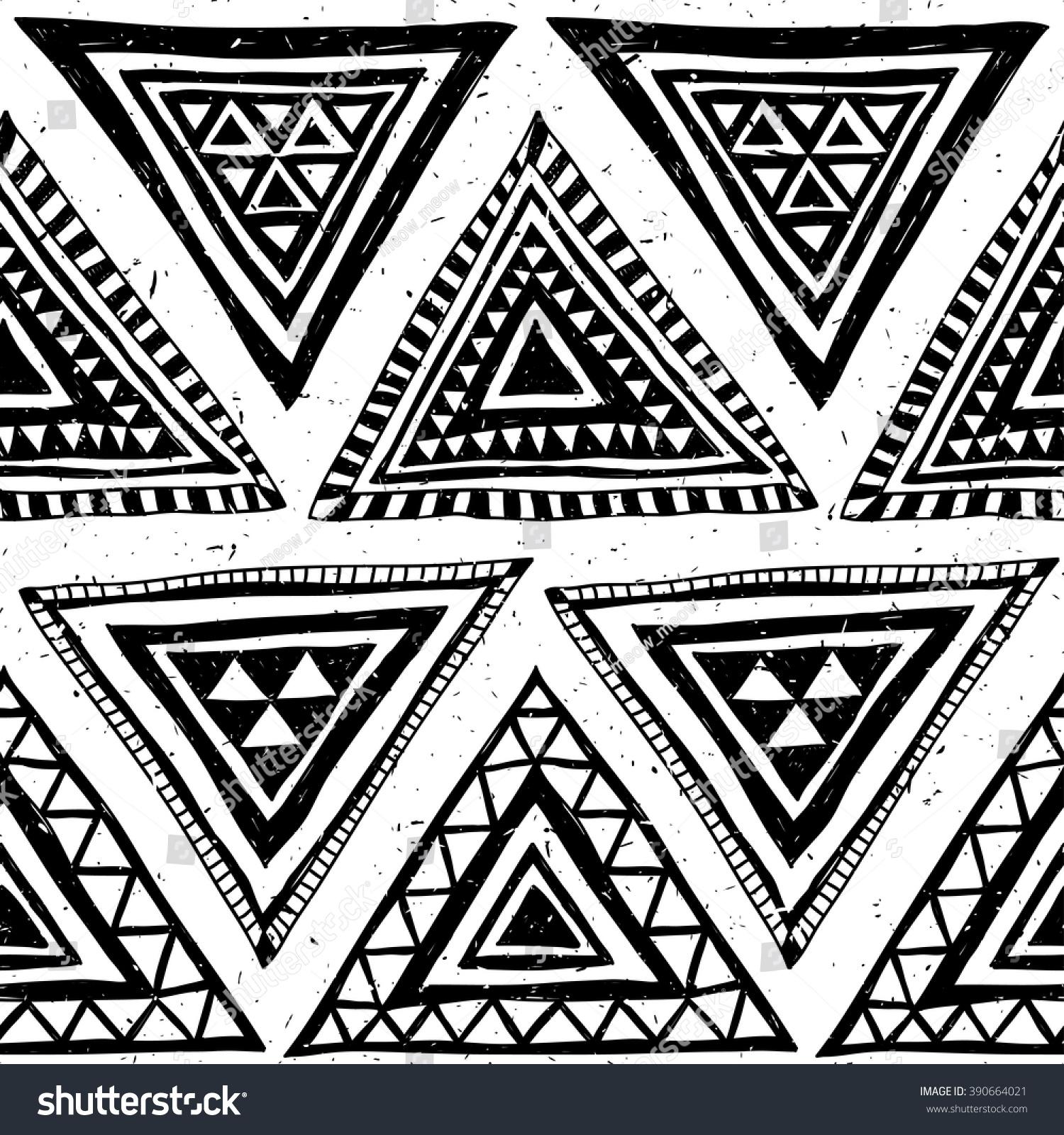 100 Neon Color Tribal Navajo Seamless Black White