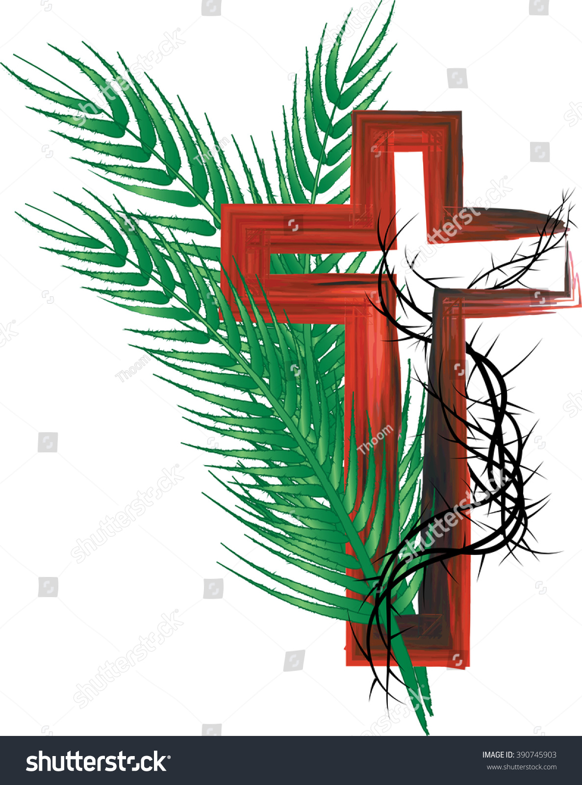 Palm Sunday Passion Jesus Christ Abstract Stock Illustration ...