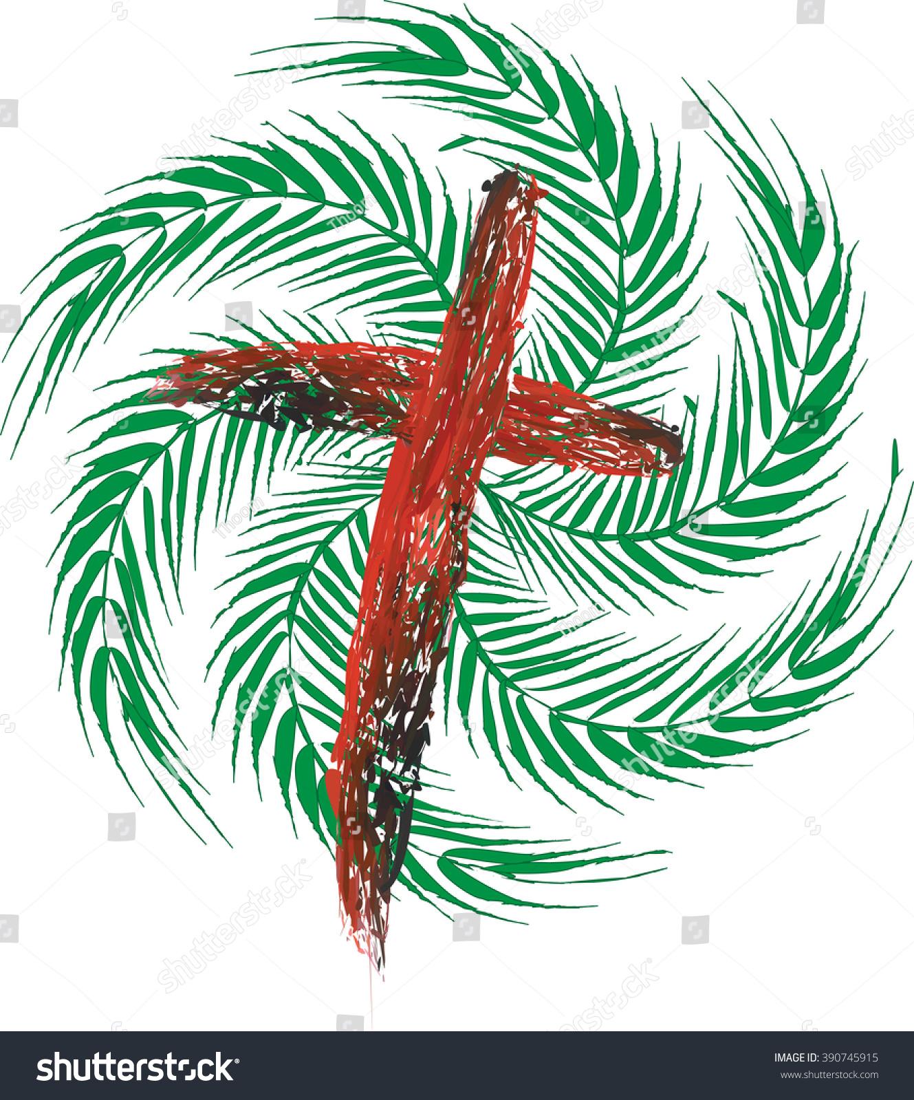 Palm Sunday Passion Jesus Christ Vector Stock Vector 390745915 ...
