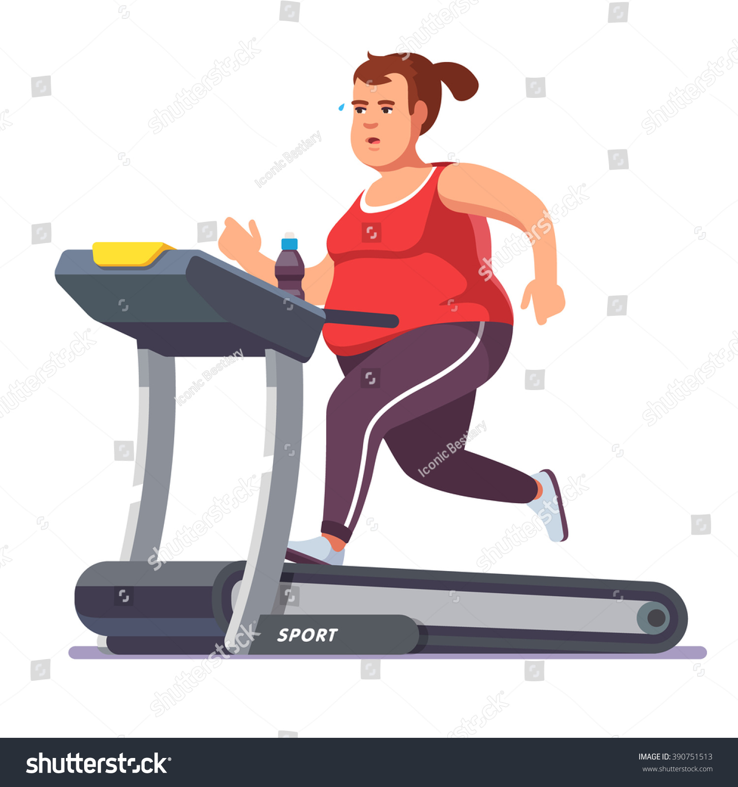 Fat Woman Working Out 56