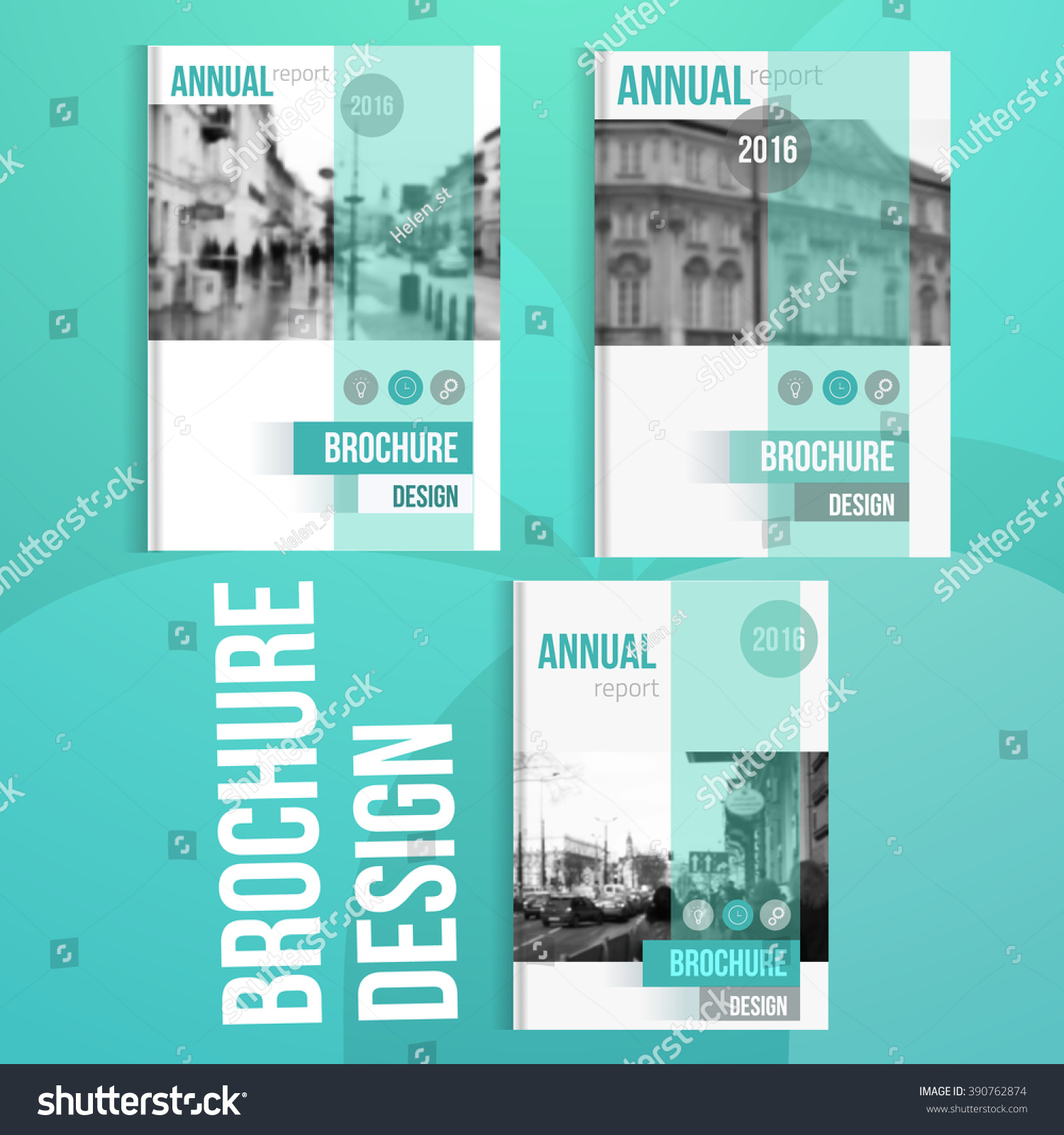Brochure Booklet Flyer Or Book Cover Template Vector : Vector brochure cover templates blured city stock