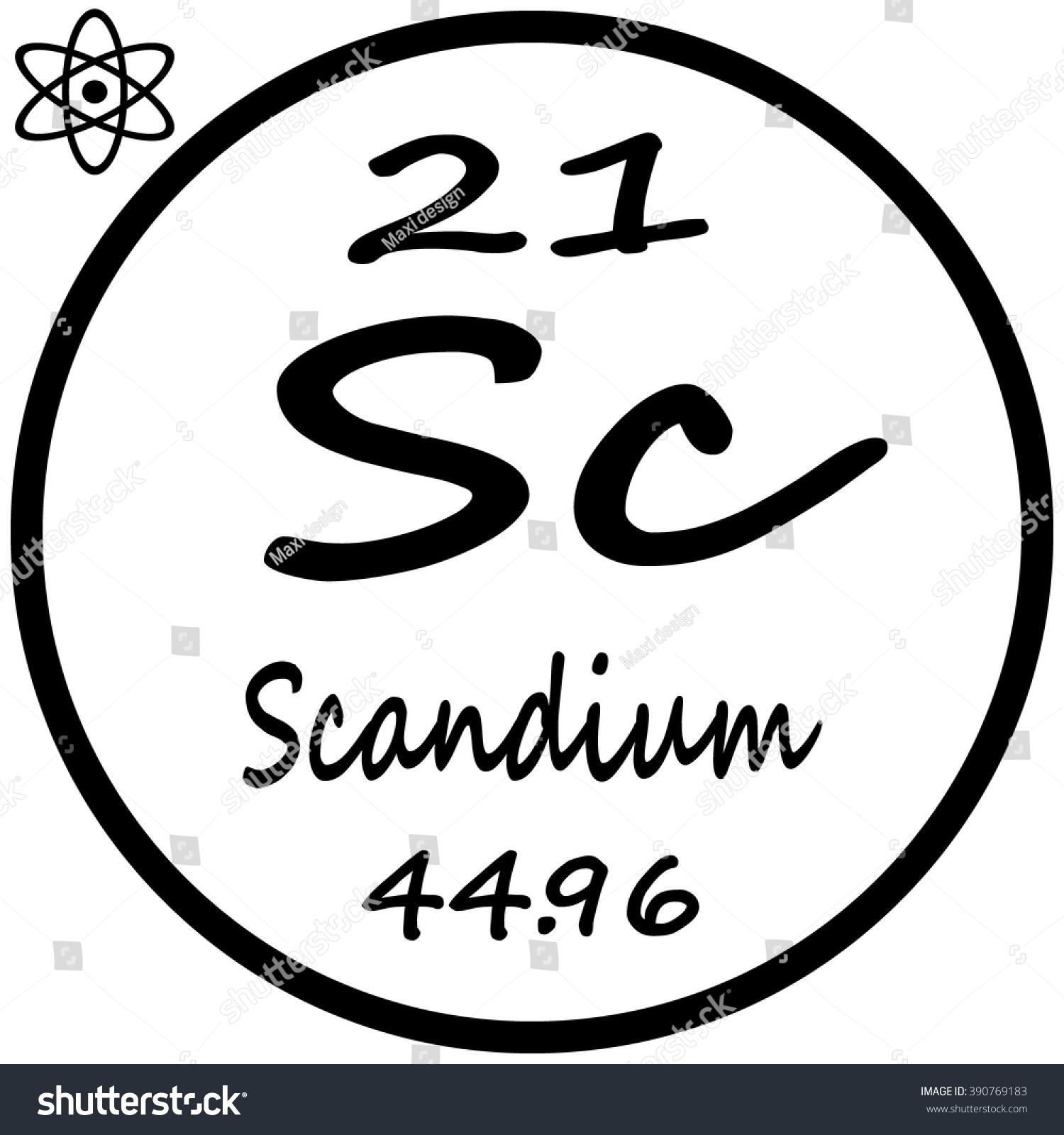 Periodic table elements scandium stock vector 390769183 shutterstock periodic table of elements scandium gamestrikefo Images