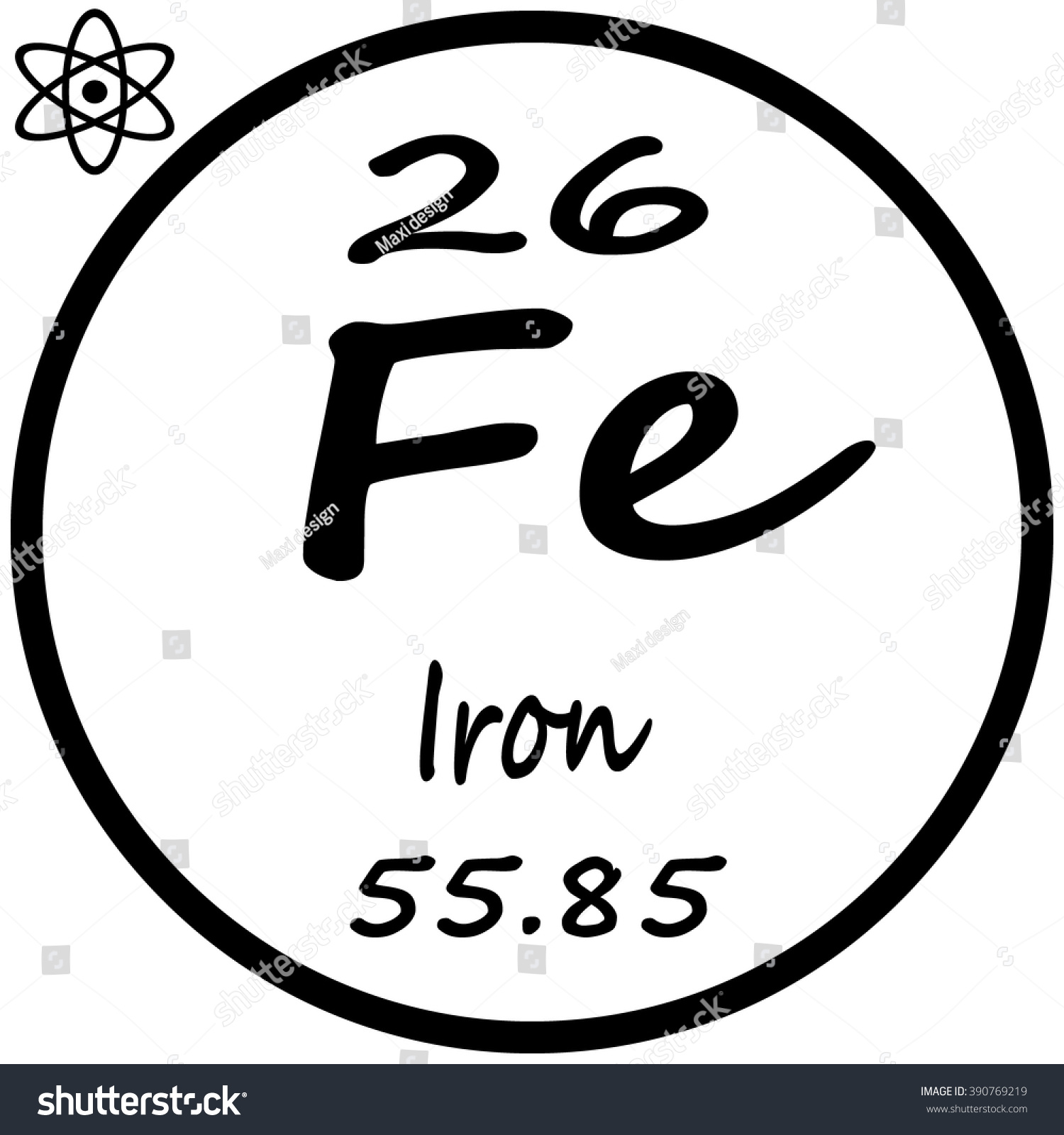 Periodic table elements iron stock vector 390769219 shutterstock periodic table of elements iron gamestrikefo Image collections