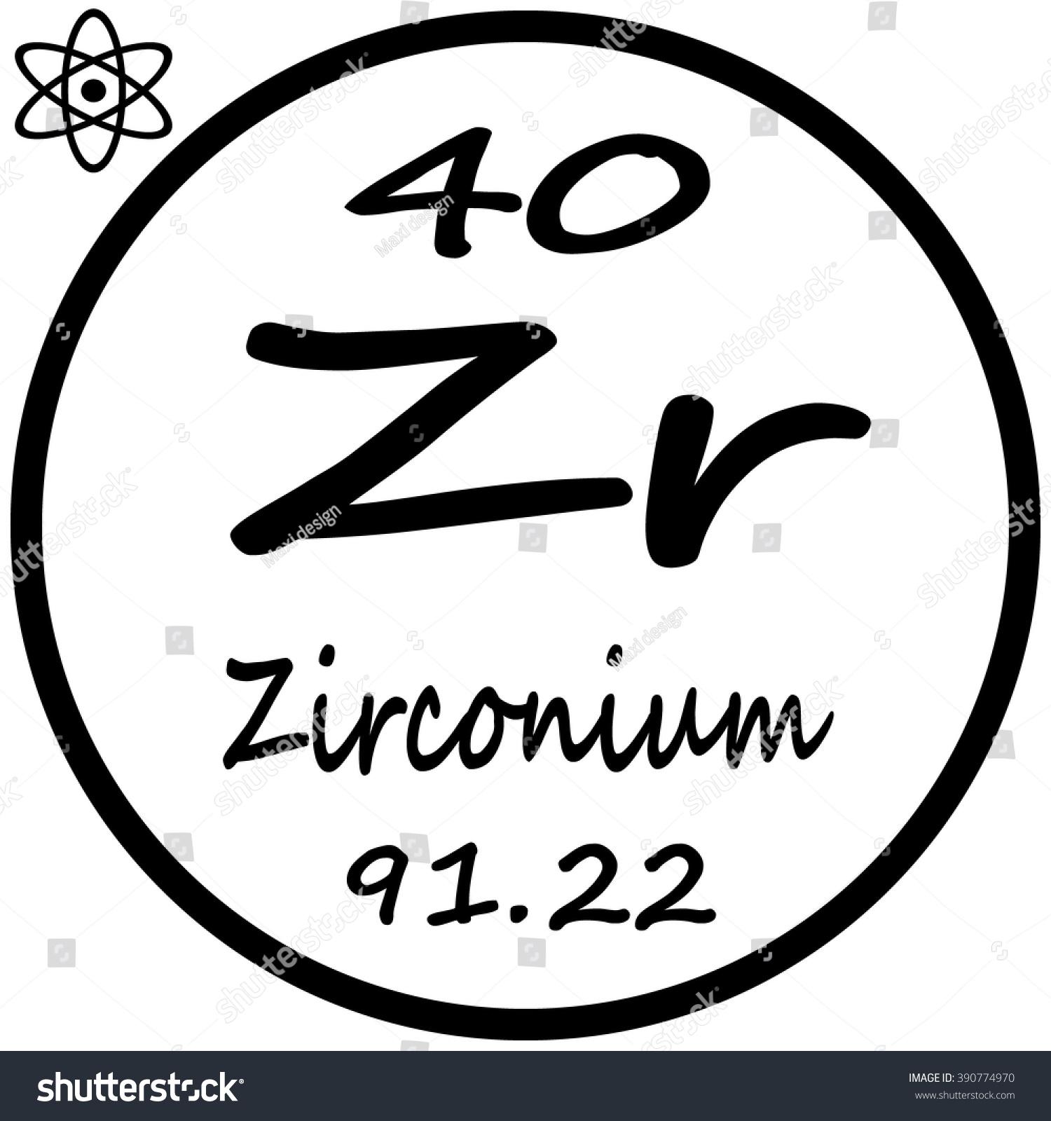 Periodic table elements zirconium stock vector 390774970 periodic table of elements zirconium urtaz Gallery