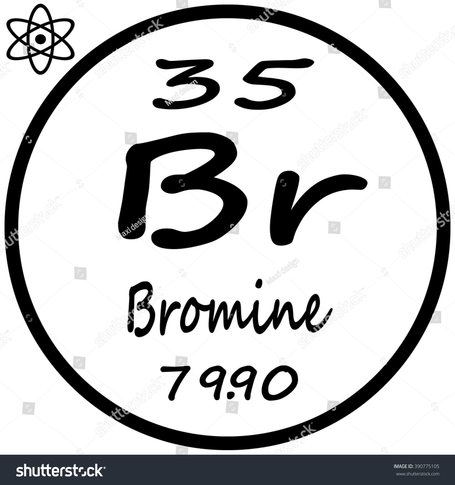 Periodic table elements bromine stock vector 390775105 shutterstock periodic table of elements bromine gamestrikefo Gallery