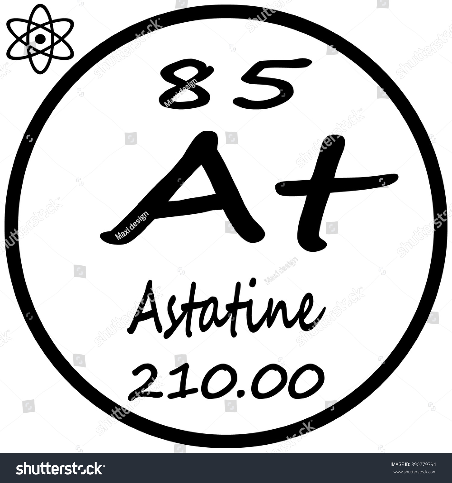 Periodic table elements astatine stock vector 390779794 shutterstock periodic table of elements astatine gamestrikefo Image collections