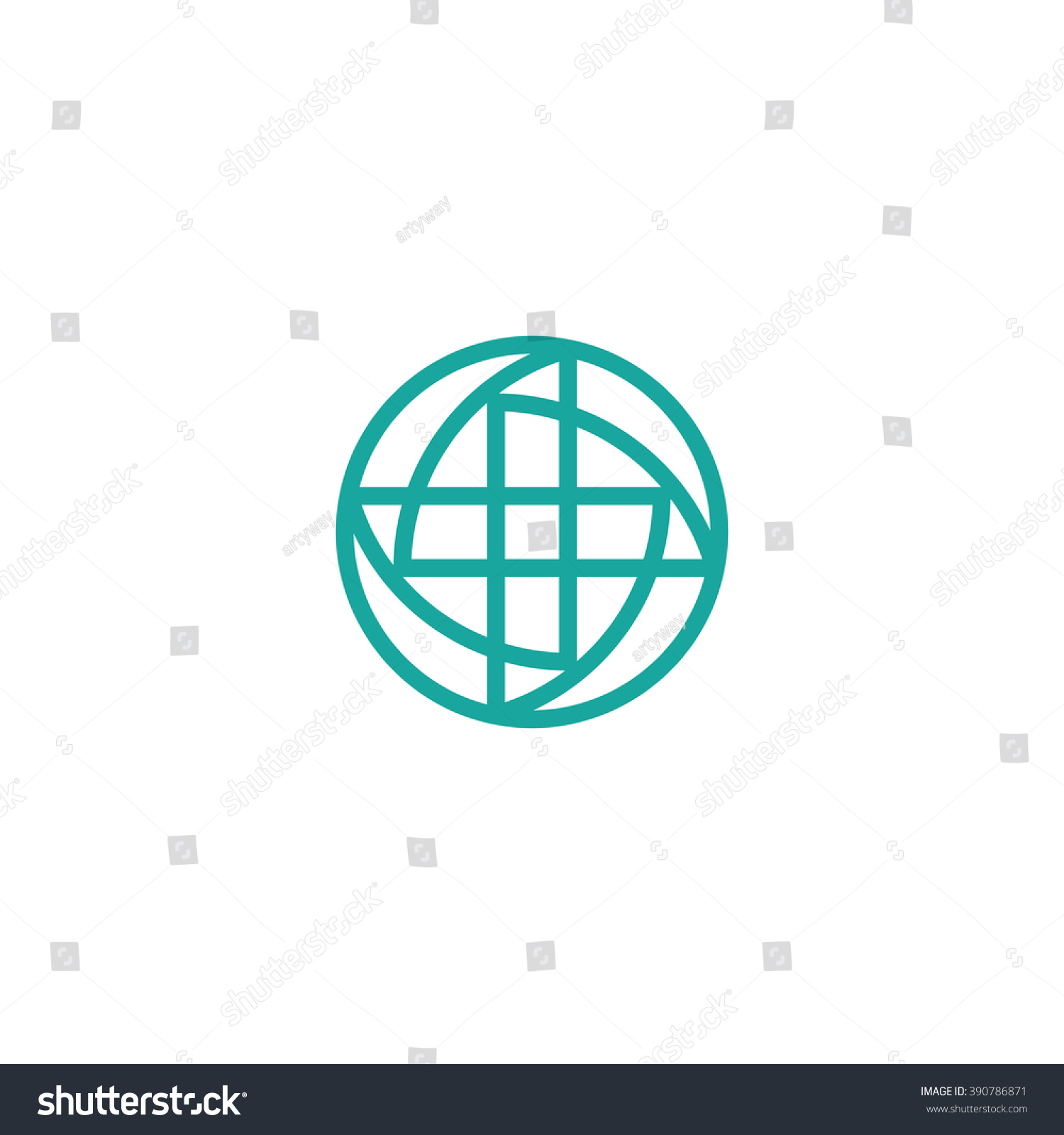 Turquoise Vector Cross Round Medical Logo Stock Vector 390786871 ...