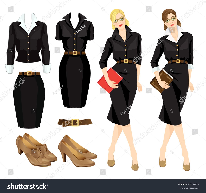 Cinderella Dresses Stock Vector Illustration Of Isolated: Vector Illustration Of Woman In Glasses, Formal Dress And