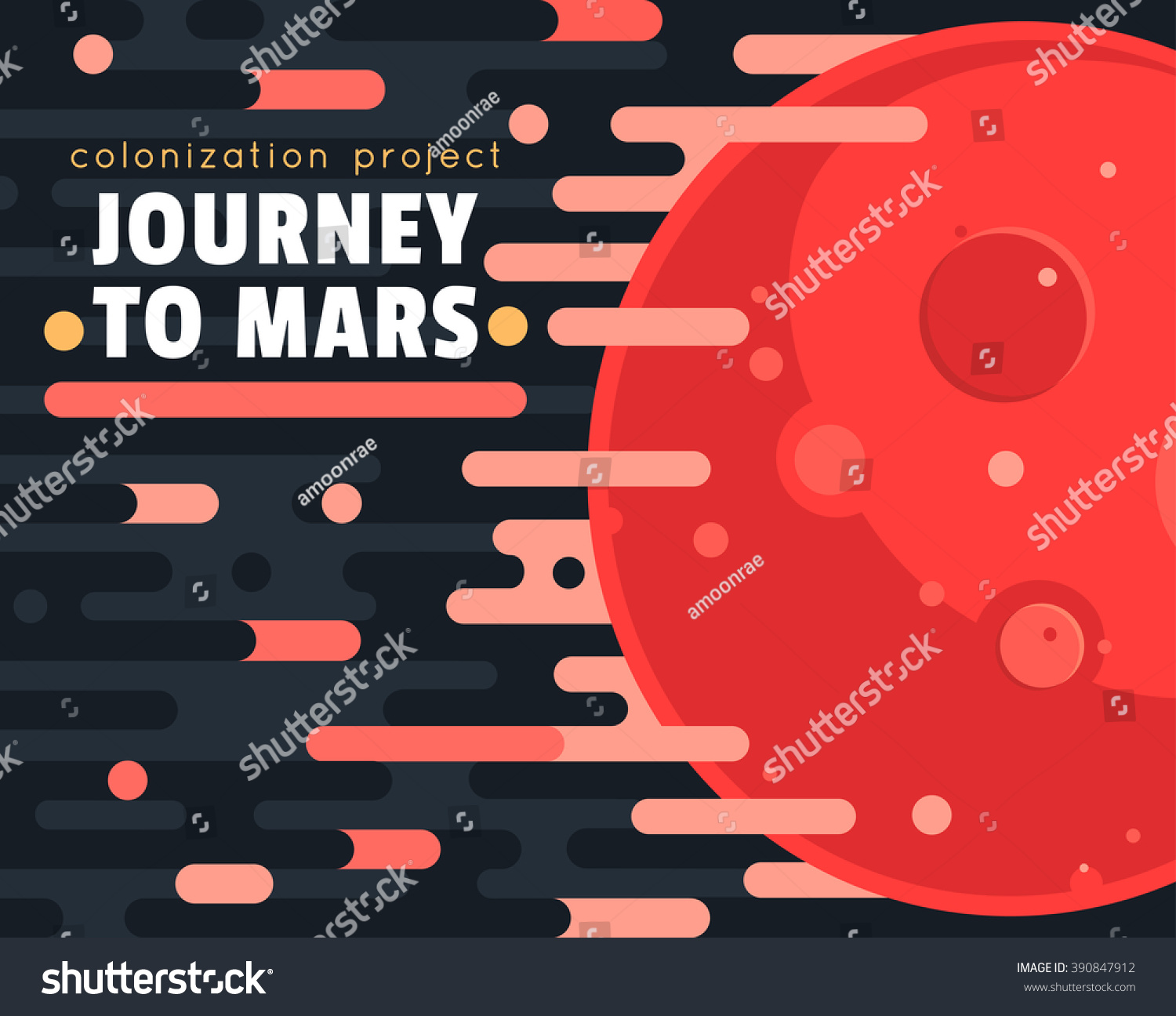 Mars Colonization Project Poster With Red Planet And ...
