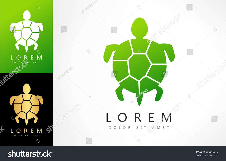 Turtle Symbol Vector Stock Vector Royalty Free 390869212