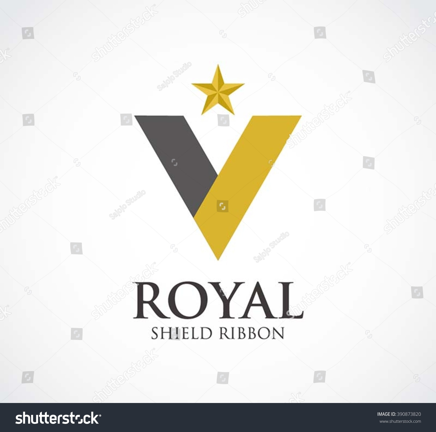 Royal Shield Of Ribbon Protection Abstract Vector And Logo Design Or Template Safety Line Business Icon