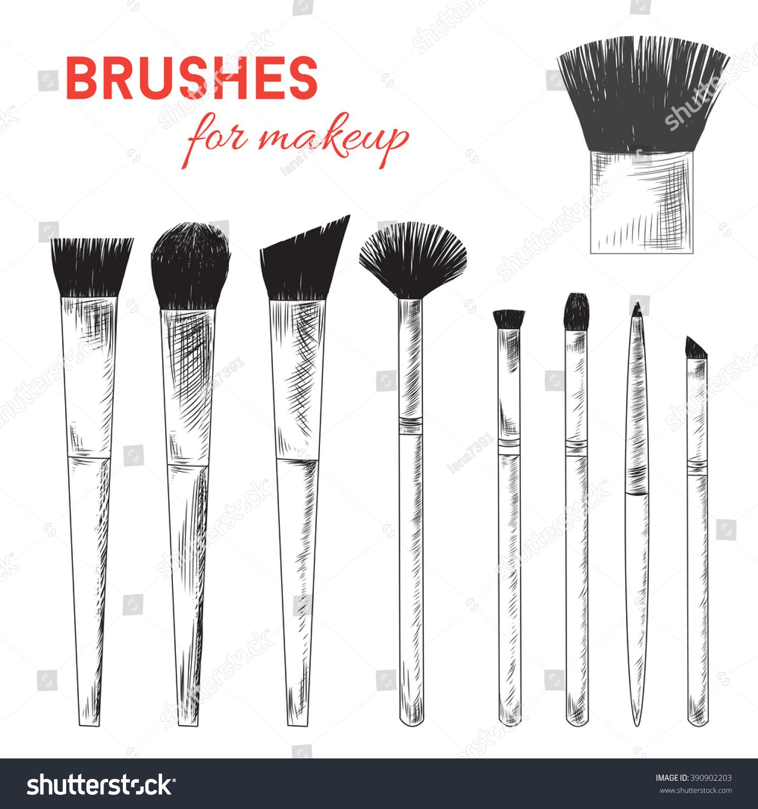 Easy Makeup Brush Drawing