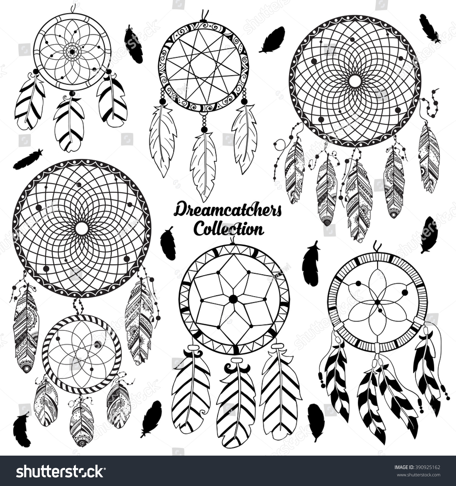 Native American Indian Traditional Symbols Tribal Stock Vector