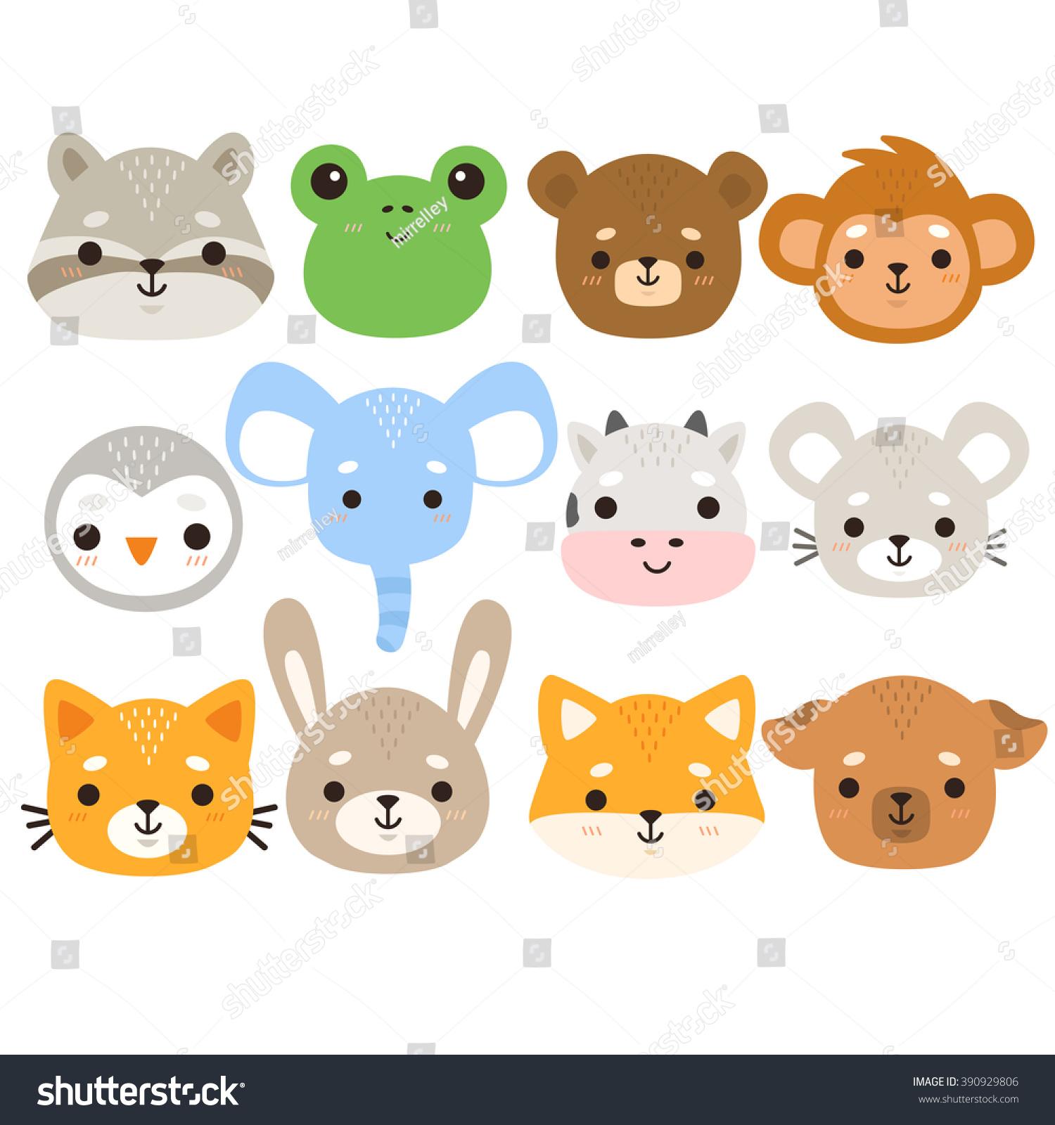 Set Twelve Illustration Cute Cartoon Baby Stock Vector 390929806 - Shutterstock