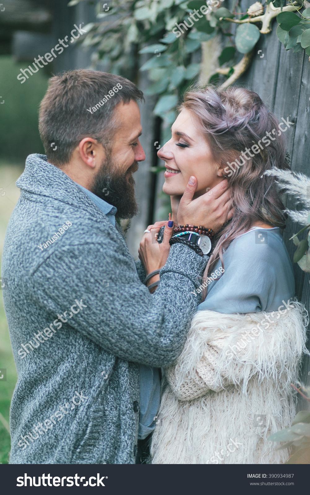 boho love story happy cute couple stock photo royalty free