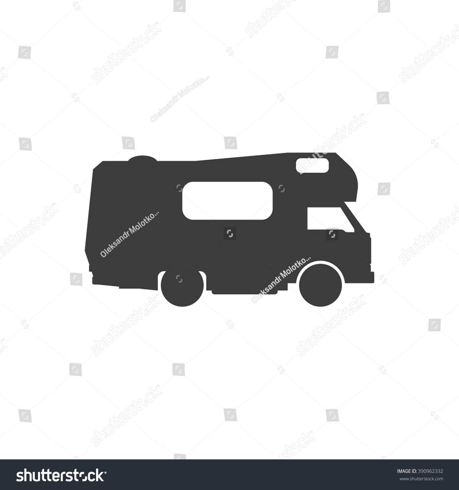Vectors Illustrations Footage Music Recreational Motor Home Vehicle Camping Trailer Family Caravan Motorhome Car Rv Mobile
