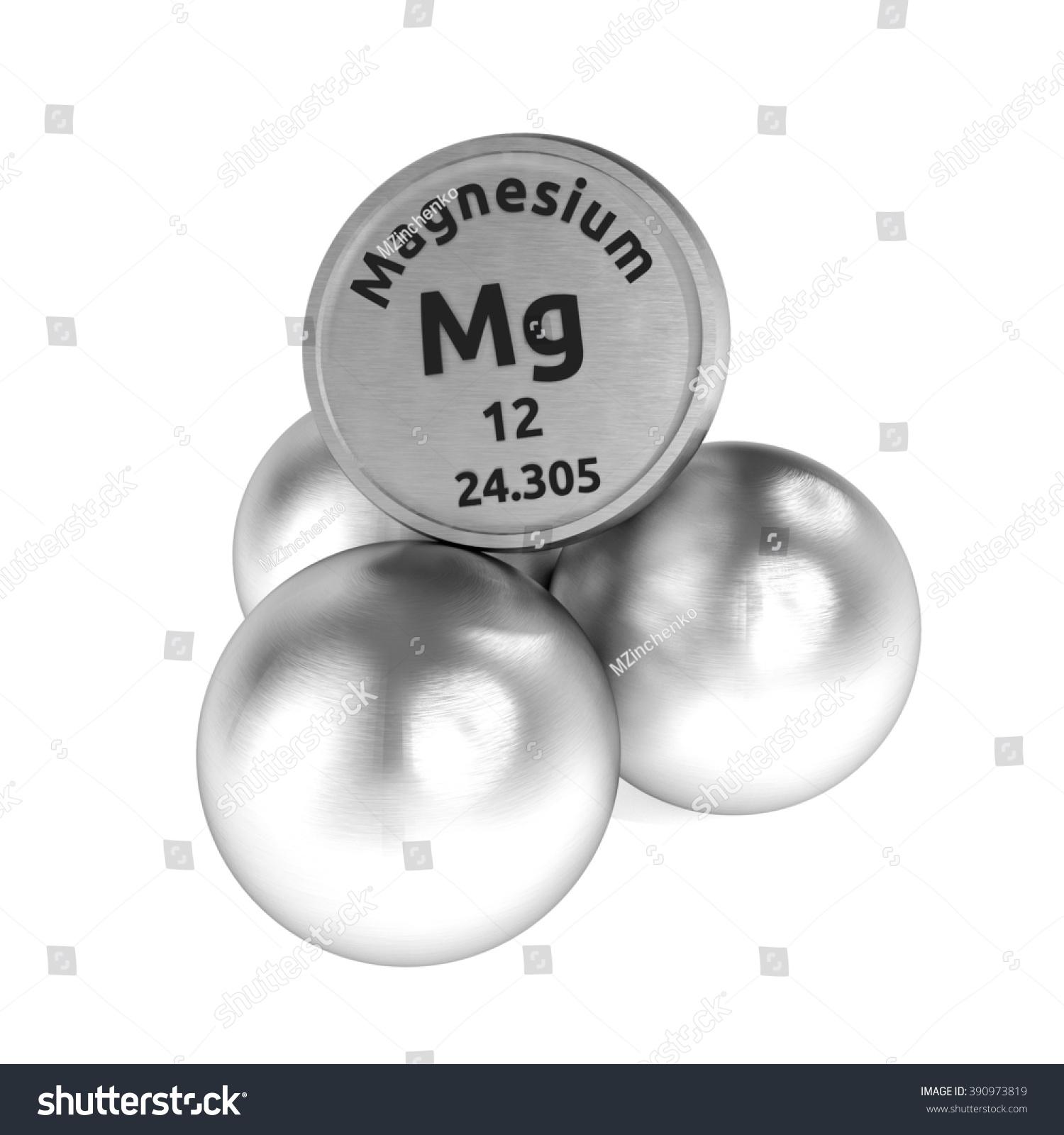 Stock Photo Illustration Magnesium Symbol Sign Of Chemical Element Mg Shutter