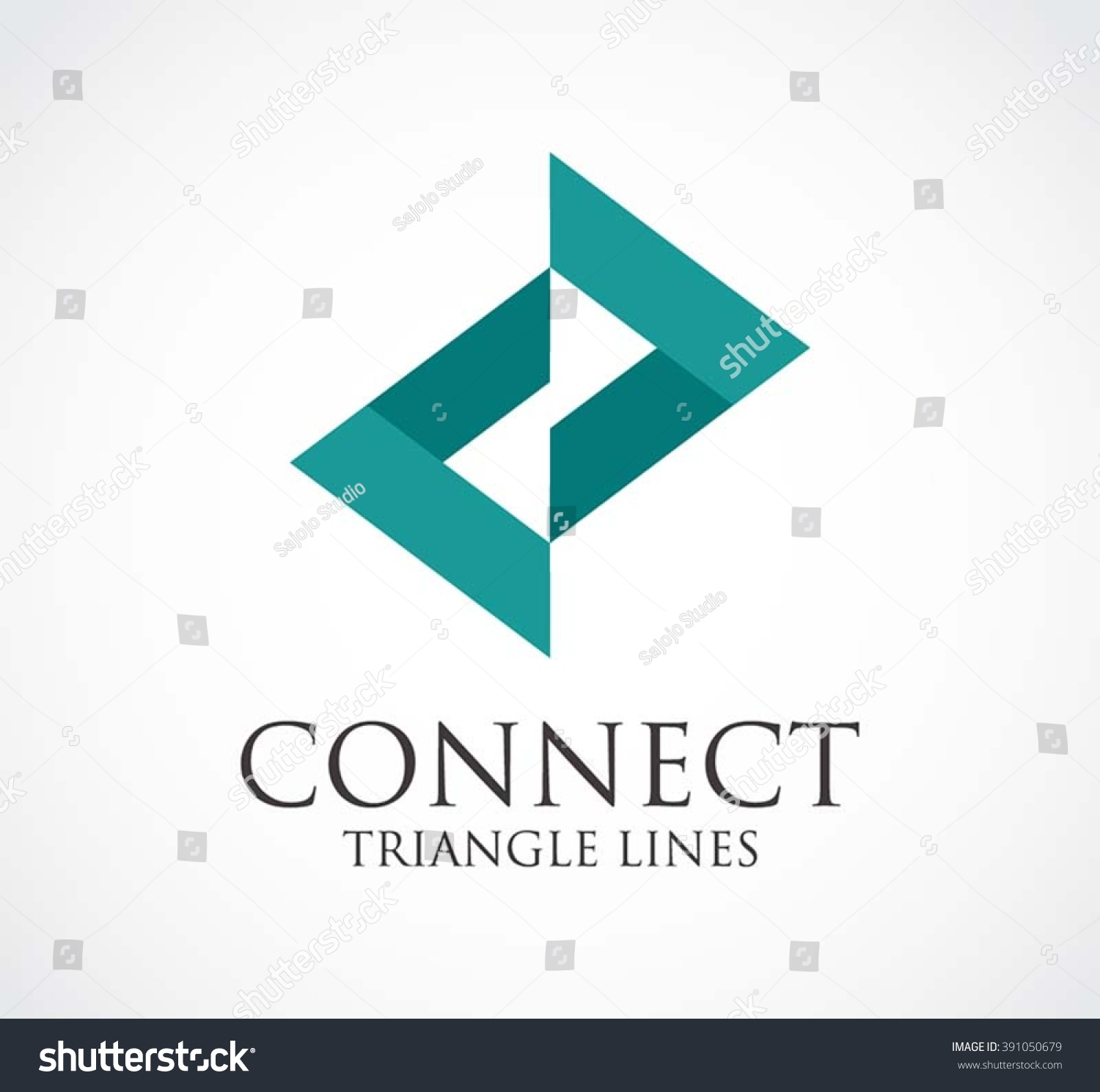 Connect triangle arrow line abstract vector stock vector for Triangle concept architecture