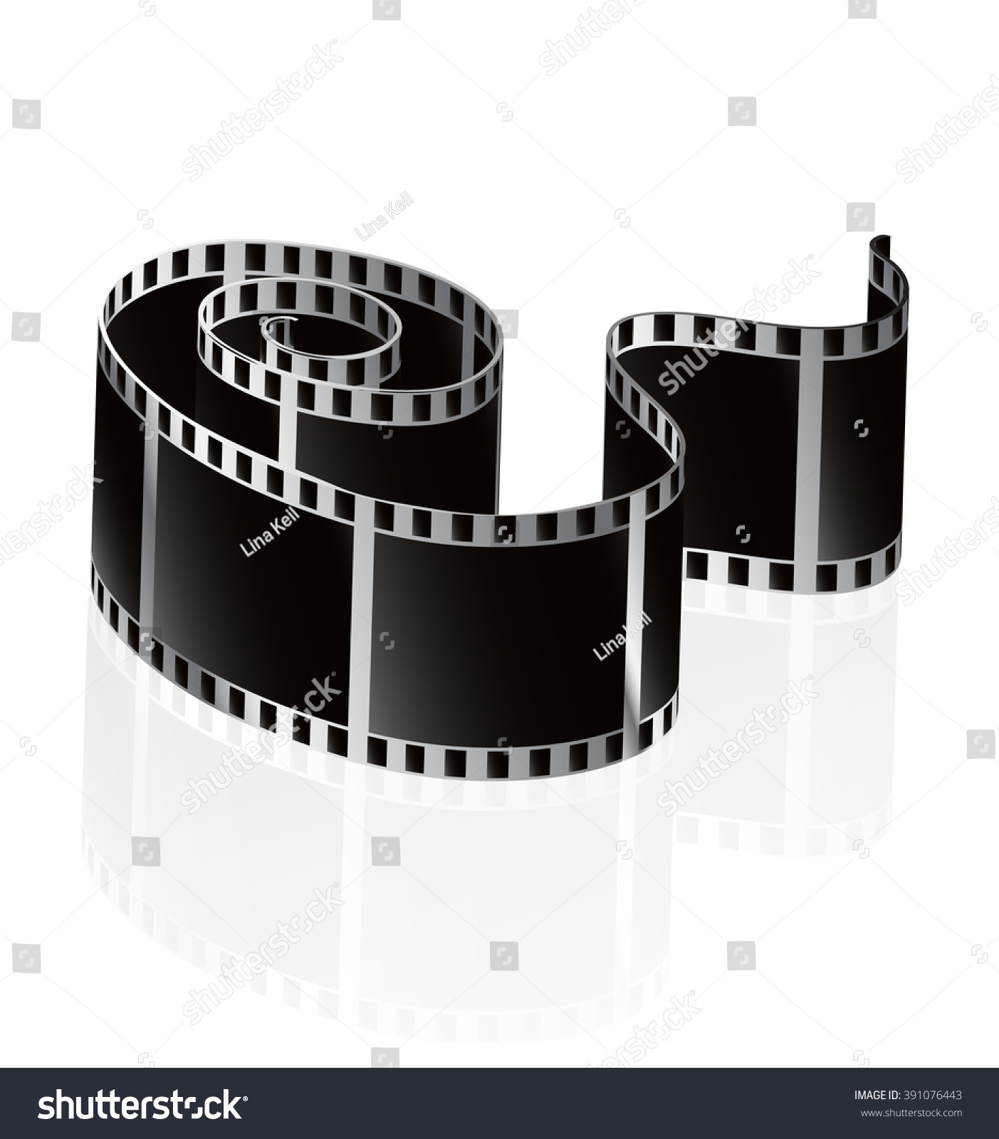 Camera Film Roll Vector Illustration Icon Stock Vector 391076443 ...