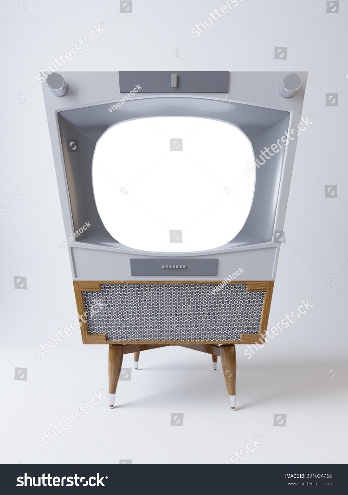 Futuristic Hipster Screen Tv Mockup Aluminum Stock Illustration  # Meuble Tv Ypster