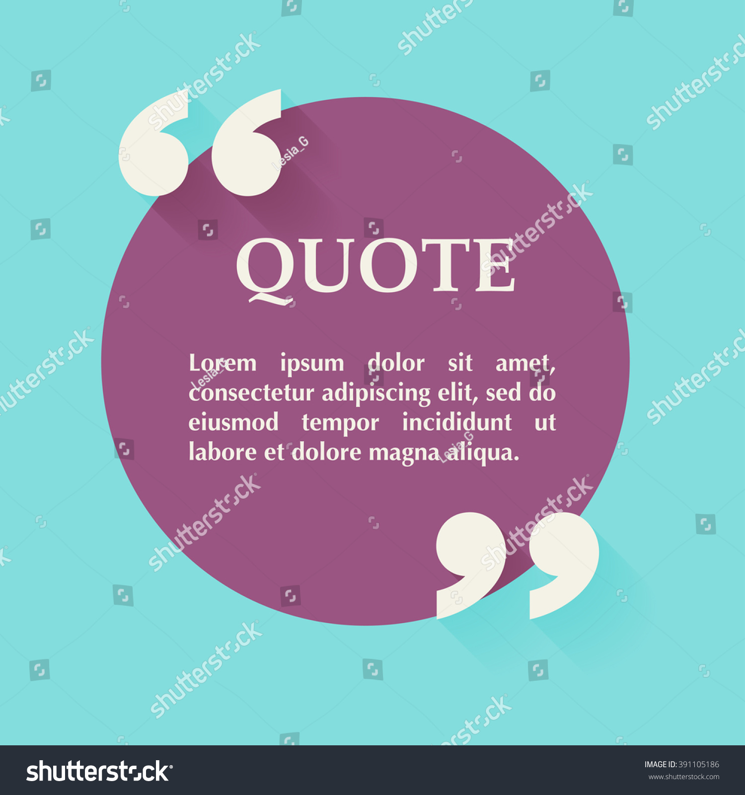 Quote blank template design elements circle stock vector 391105186 quote blank template design elements circle business card template paper sheet information magicingreecefo Image collections