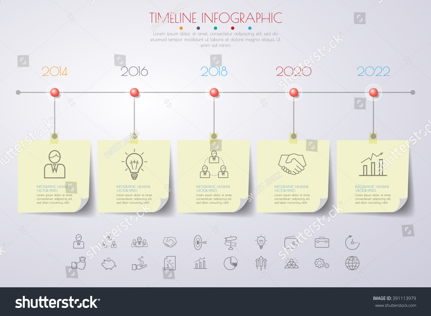 Business concept timeline infograph template realistic stock vector business concept timeline infograph template realistic paper 5 steps infographic vector banner can fbccfo Choice Image