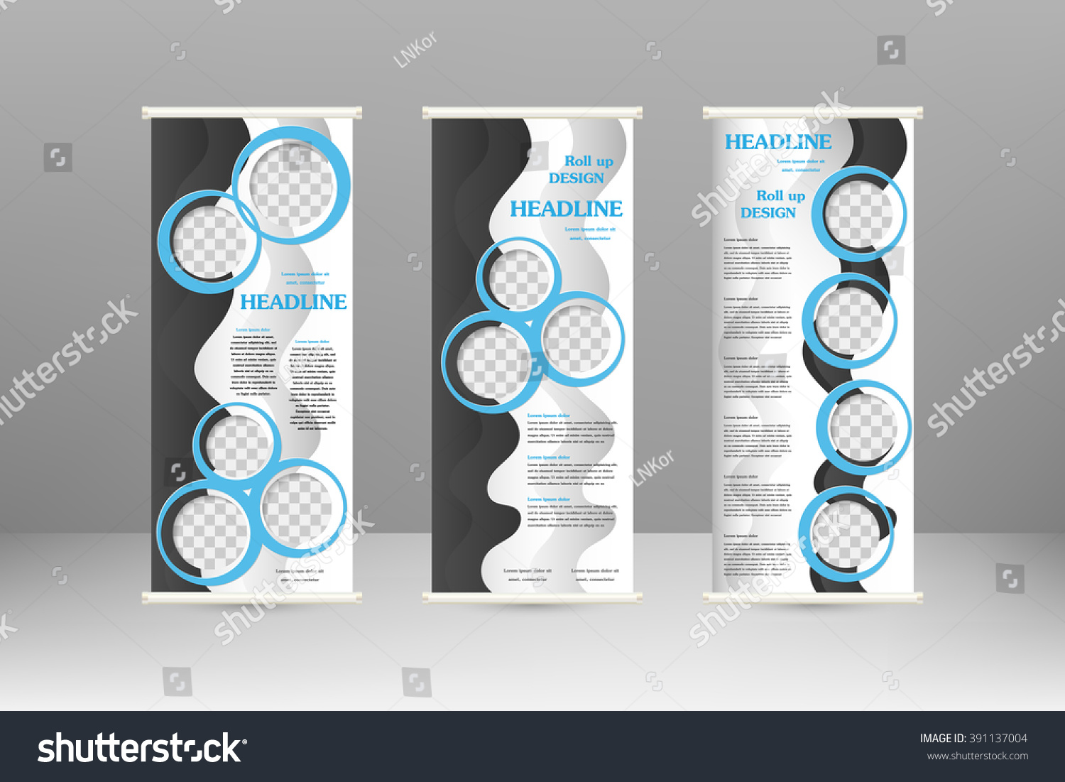 Roll Banner Stand Design Advertisement Poster Stock Vector ...