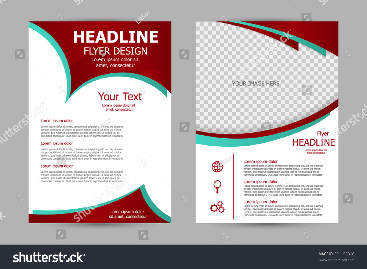 vector flyer template design business brochure stock vector vector flyer template design for business brochure leaflet or magazine cover