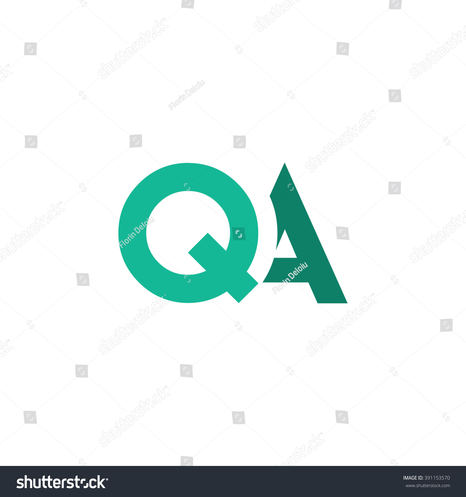 qa logo stock vector royalty free 391153570 shutterstock