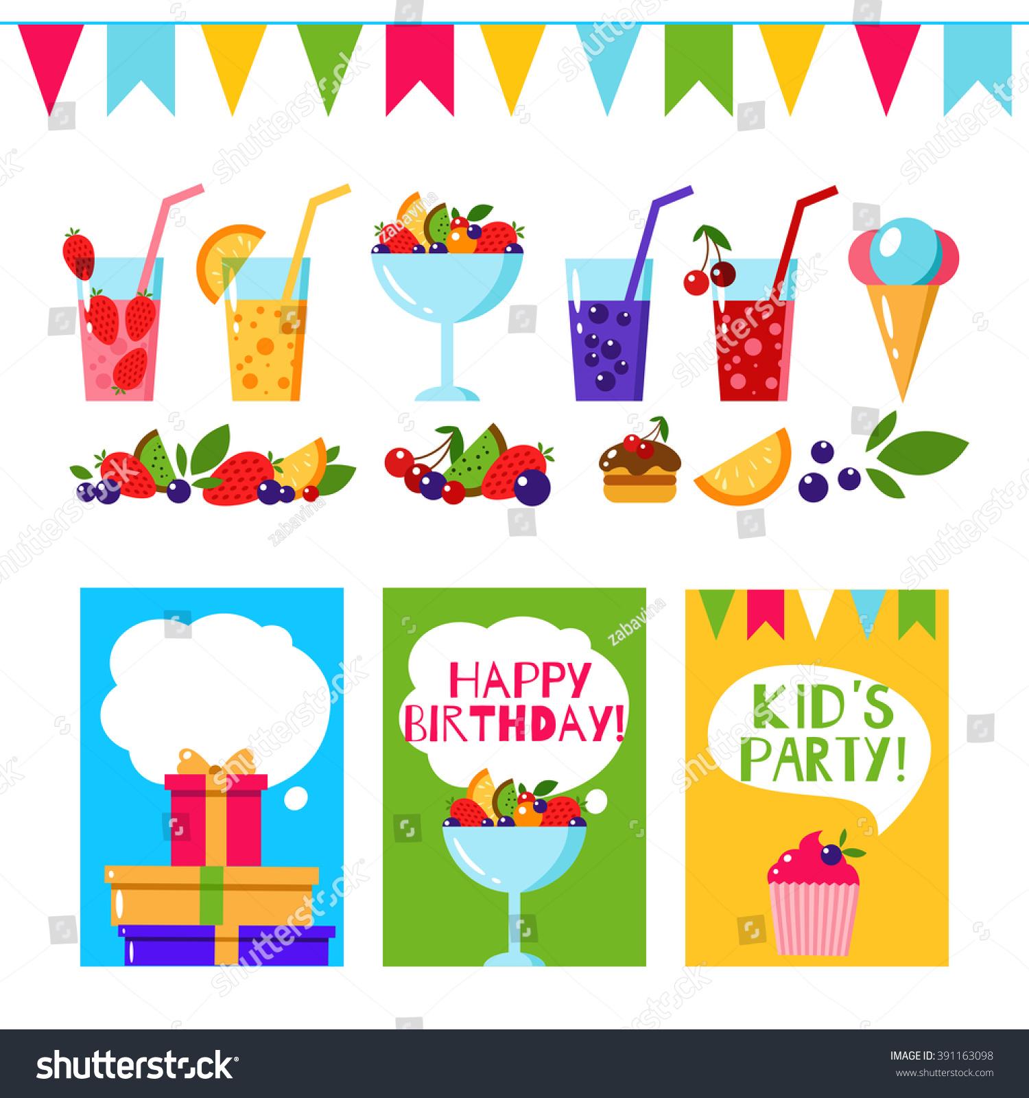 Happy Birthday Invitation Card Flat Vector Vector 391163098 – Happy Birthday Invite