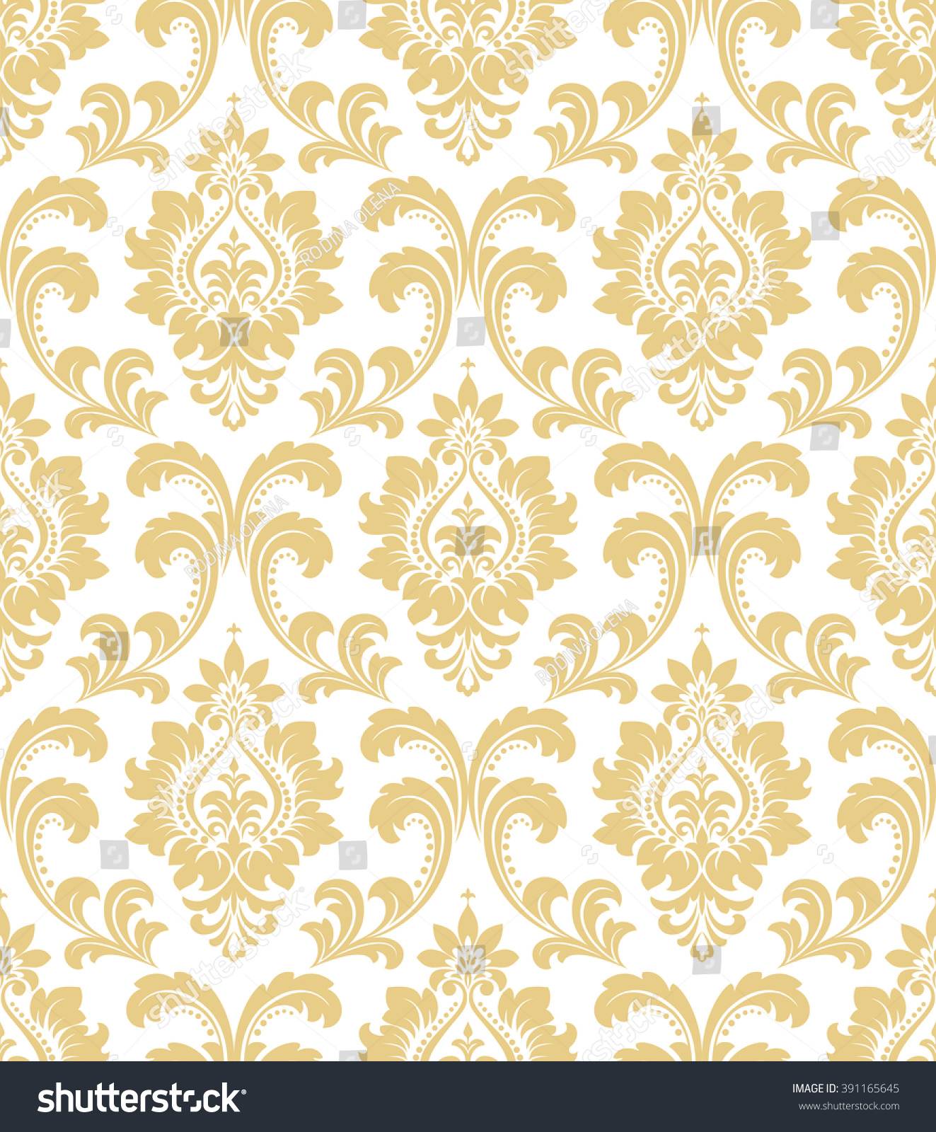 white and gold floral wallpaper - photo #5