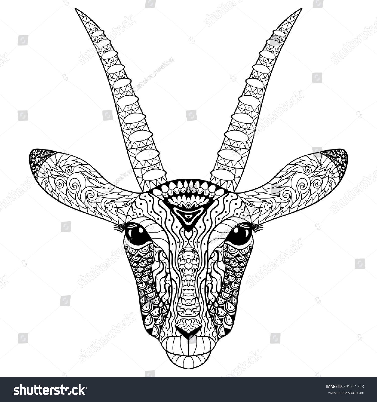coloring page antistress art therapy stock vector 391211323