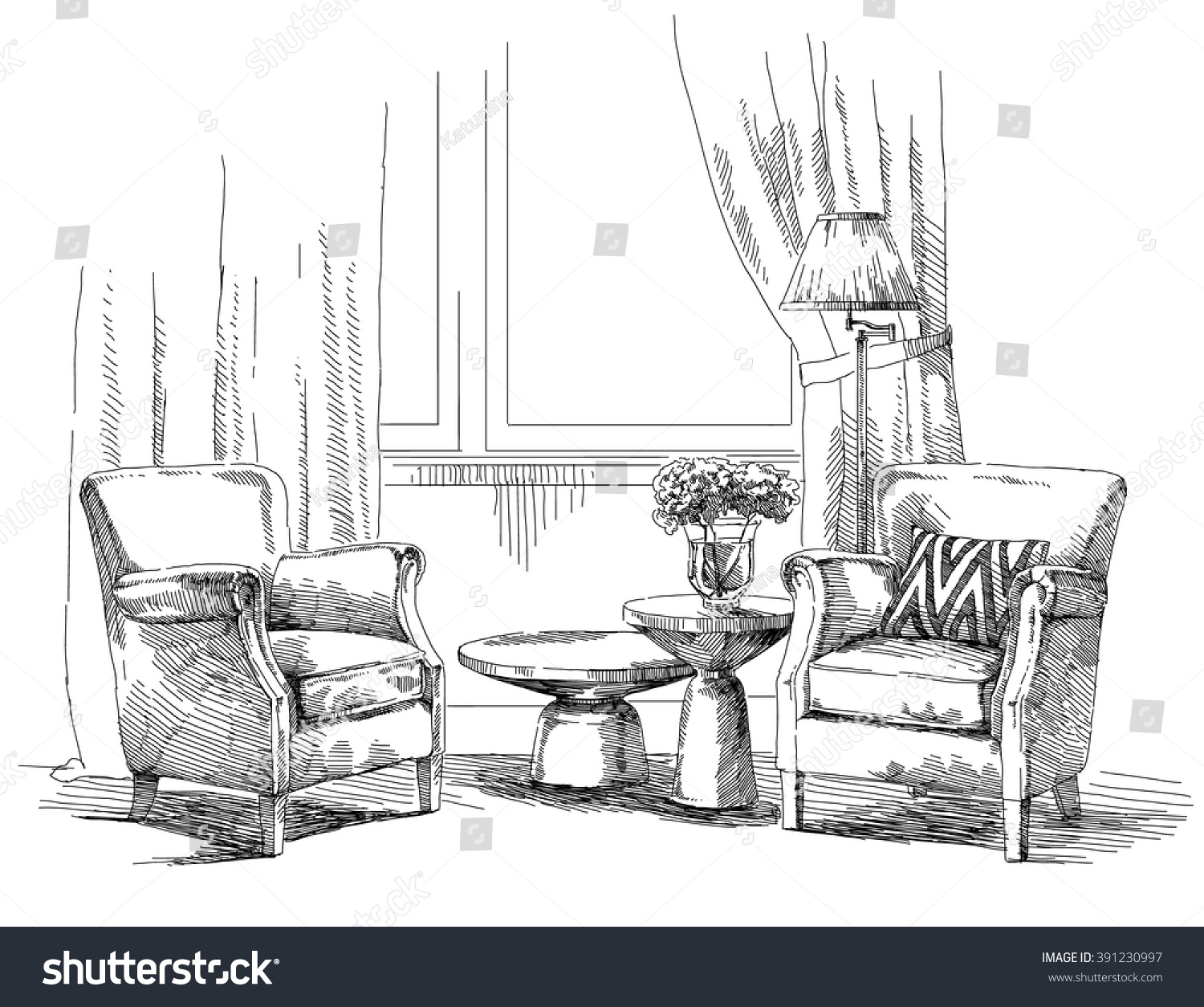Furniture Drawing Magnificent Home Design