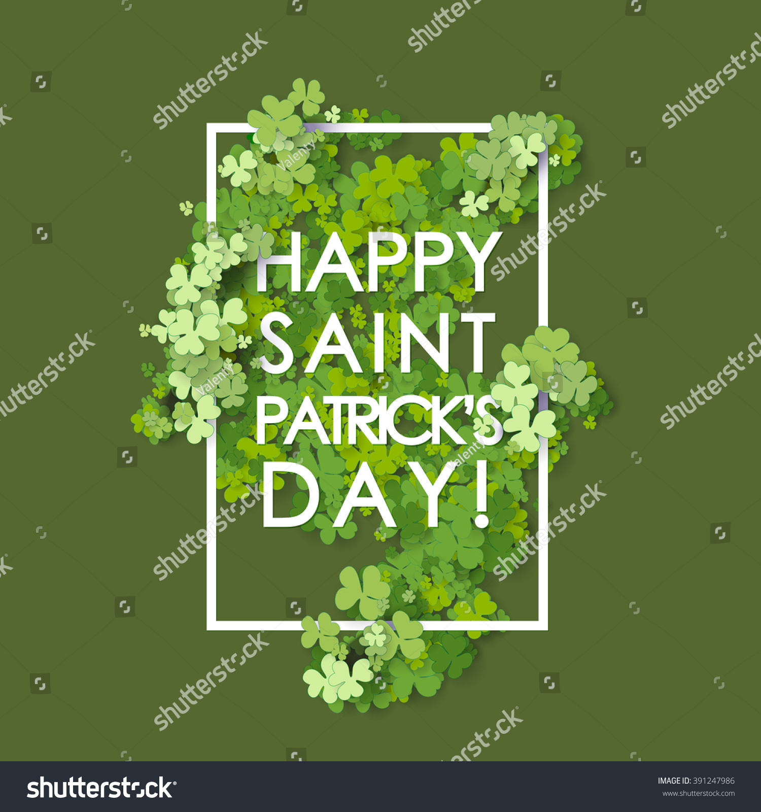 St Patrick's Day background Vector illustration for lucky spring design with shamrock