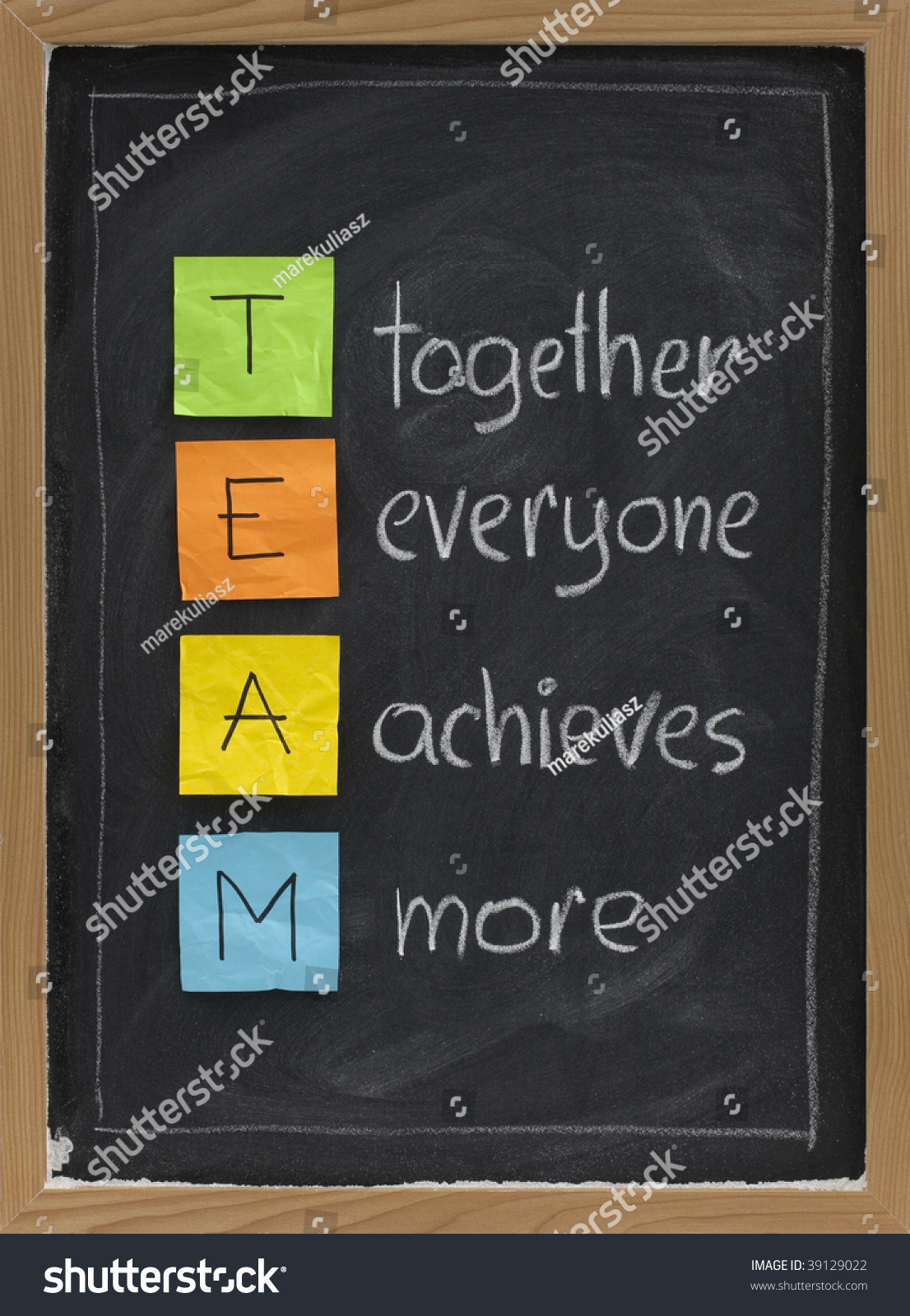 team acronym together everyone achieves more stock photo  team acronym together everyone achieves more teamwork motivation concept color sticky notes