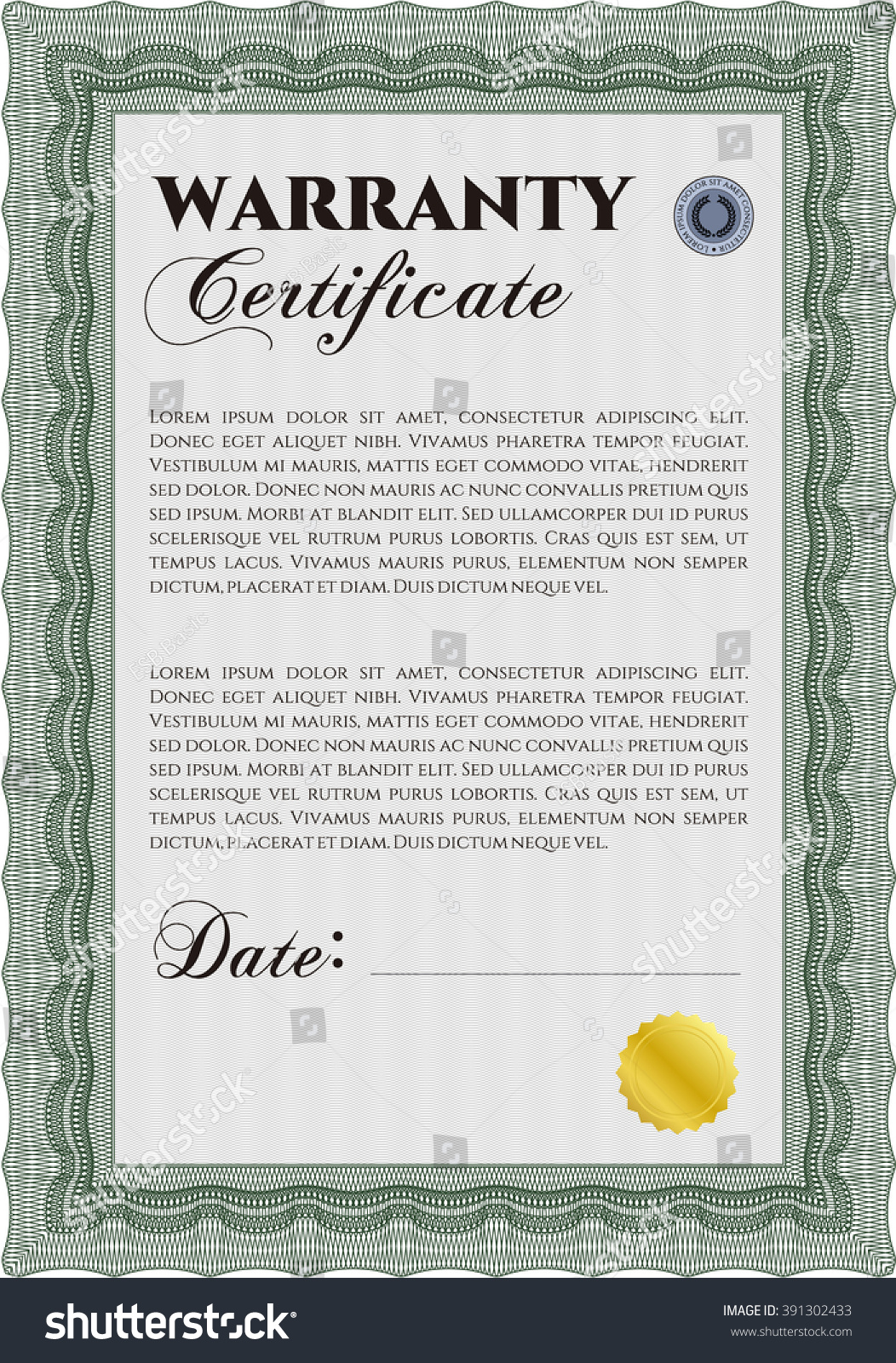 Warranty certificate template image collections templates sample warranty certificate template elegant design stock vector sample warranty certificate template elegant design with guilloche xflitez Image collections