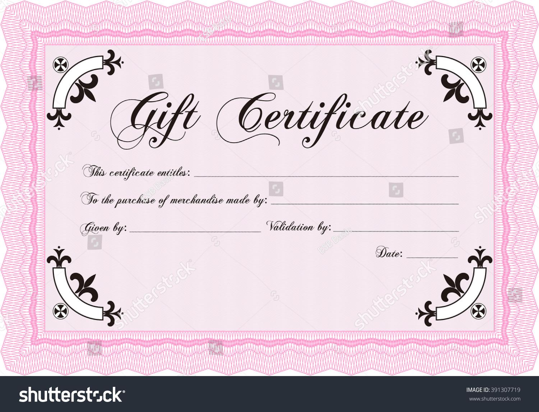 retro gift certificate template border frame stock vector