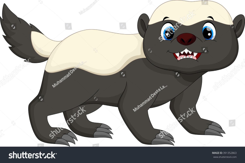 Honey Badger Cartoon Stock Vector Illustration 391352863 ...  Honey Badger Ca...